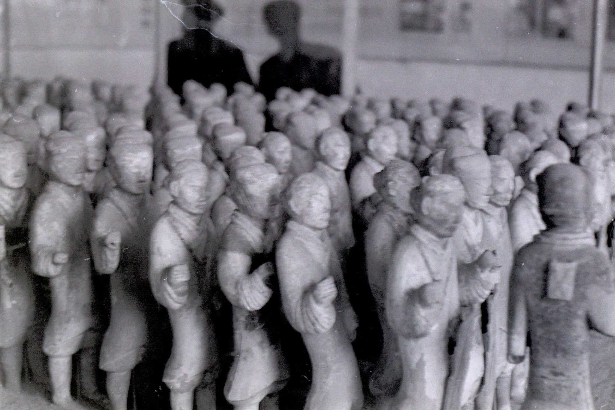 7/3/1989: 24: Xianyang museum miniature terracotta figures