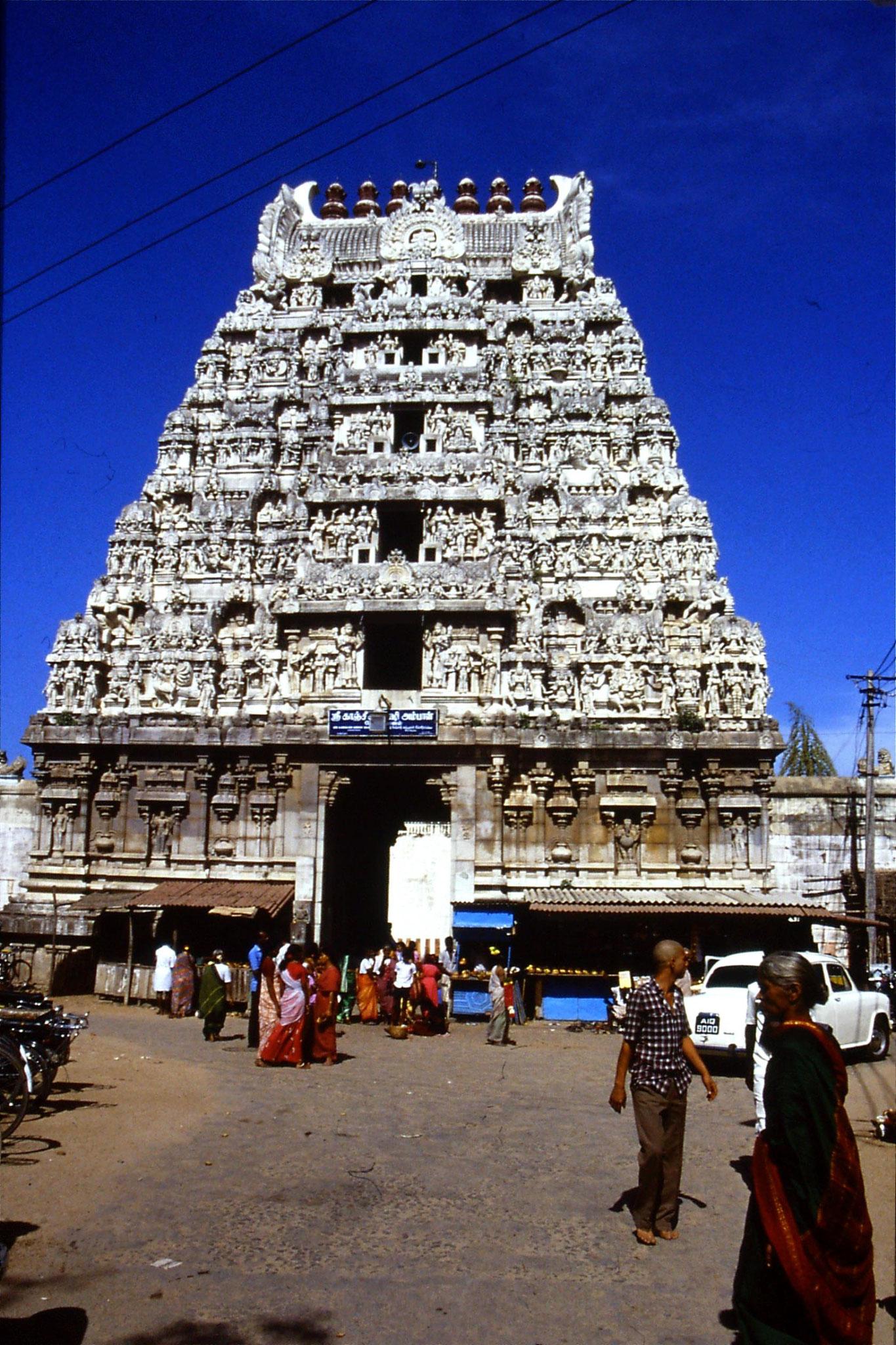 19/1/1990: 18: Kamakshi temple, 'gopuram' gateway