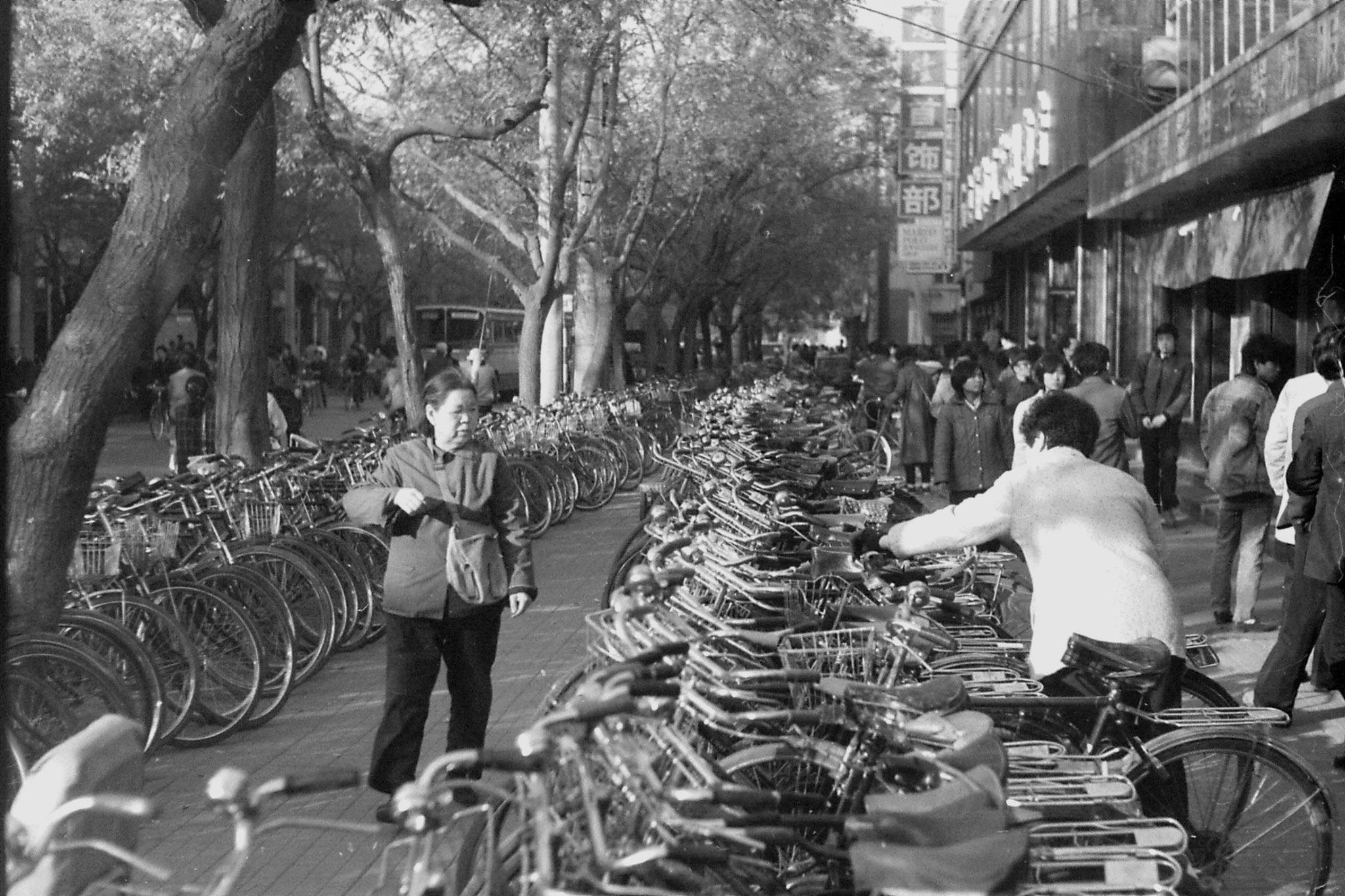 18/11/1988: 36: Bicycles in Wanfujing Street