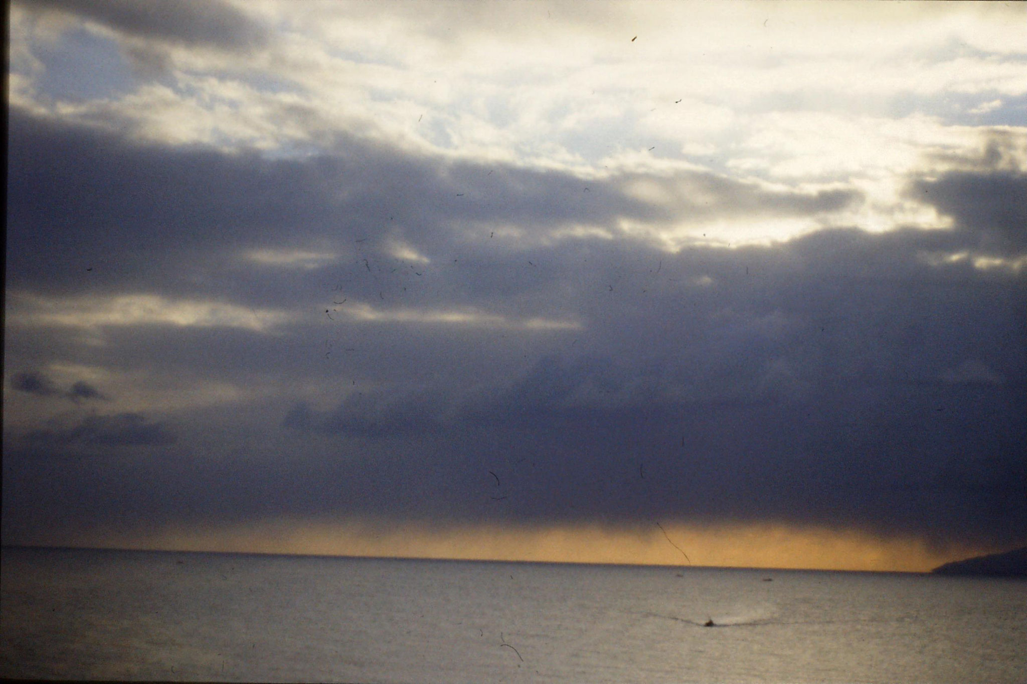 16/1/1989: 29: sunrise leaving Hakodate
