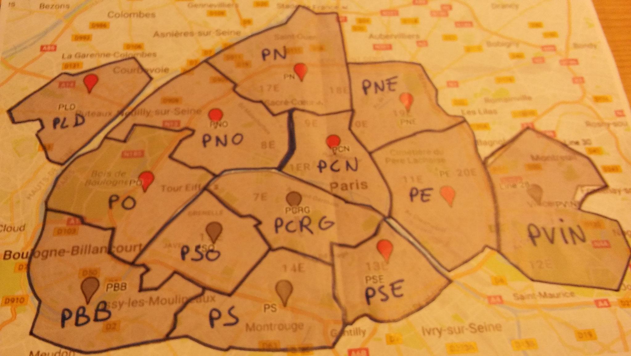 Deliveroo propose des zones de livraison, en insitant pour que les nouveaux venus s'inscrivent dans les moins demandées. Le nord de Paris et ses montées n'enchantent pas les foules