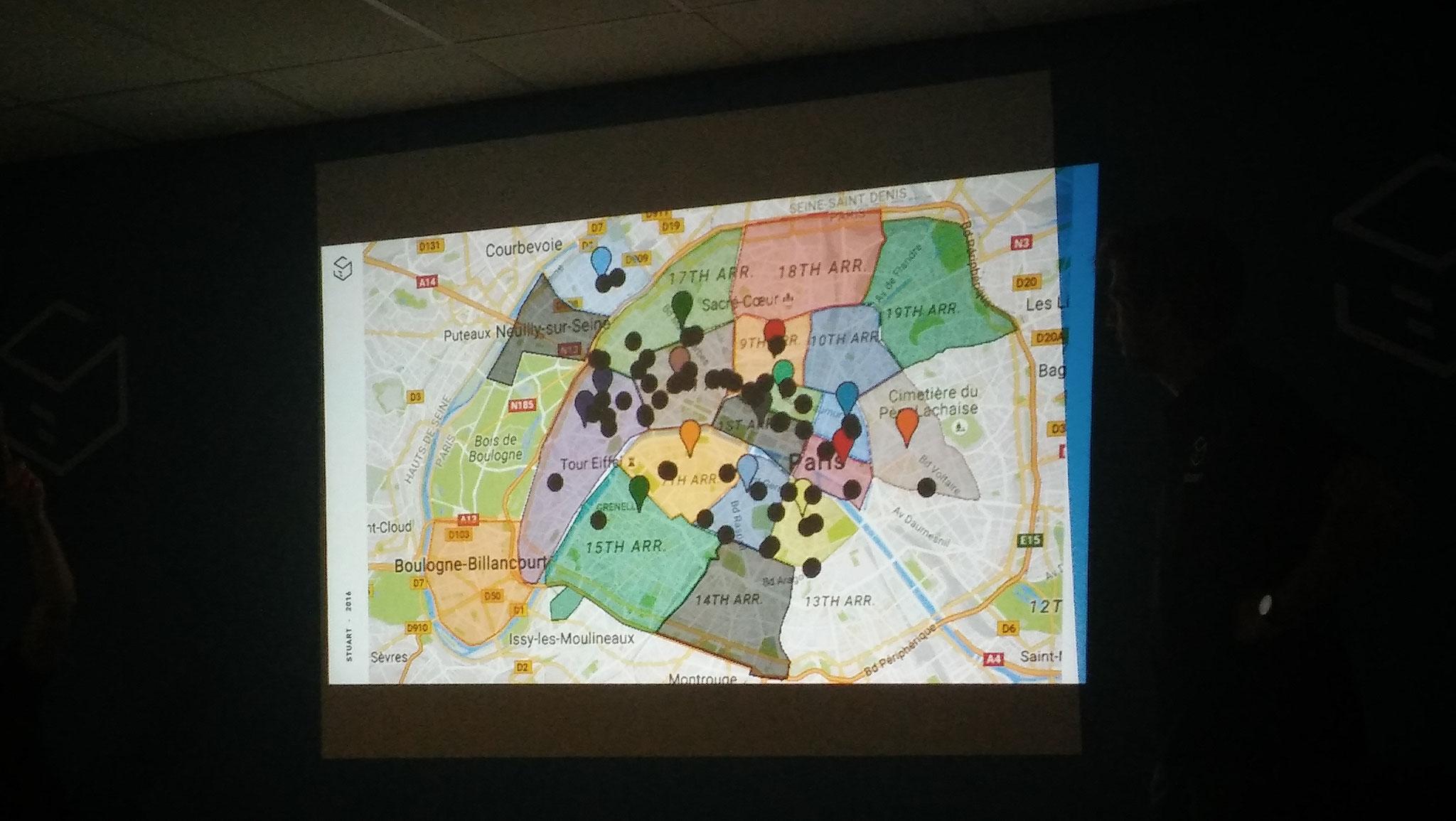 Stuart s'est développé historiquement dans le centre-ouest de Paris, et propose désormais toutes zones, par arrondissement