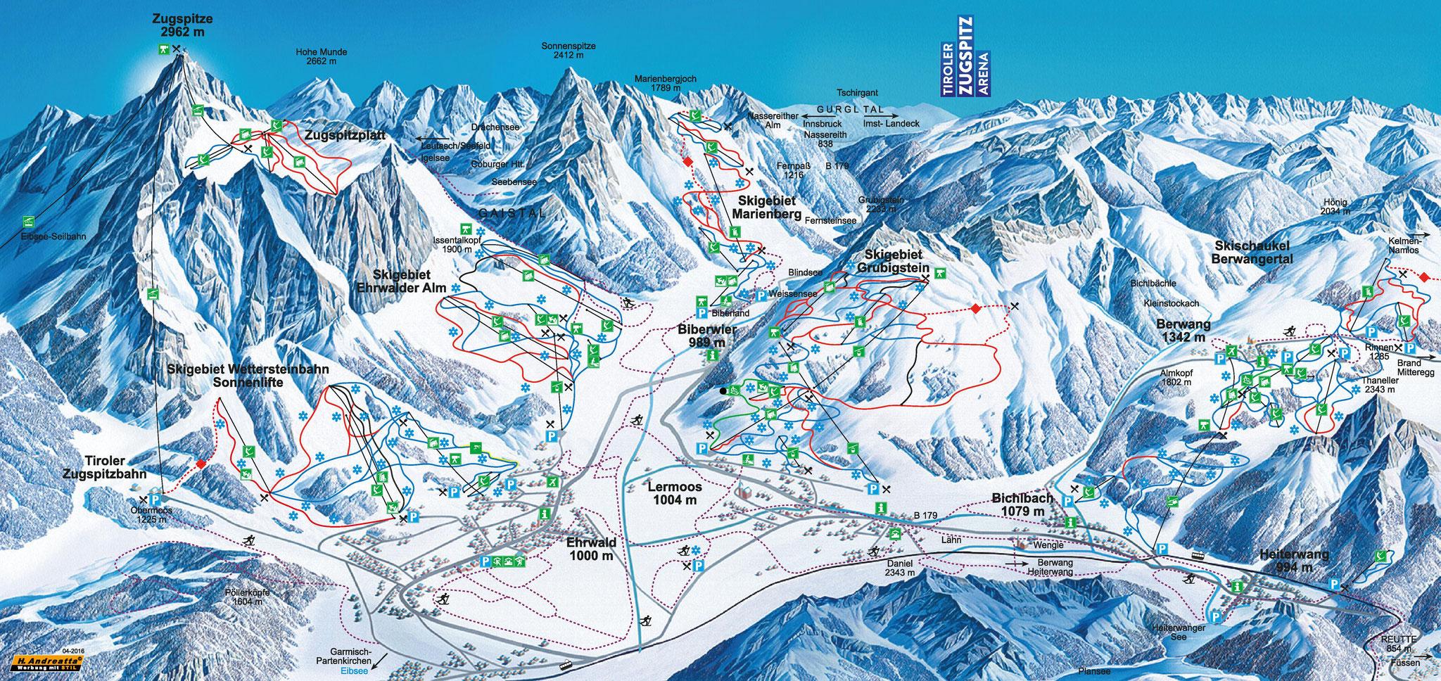 Skigebied Tiroler Zugspitz Arena