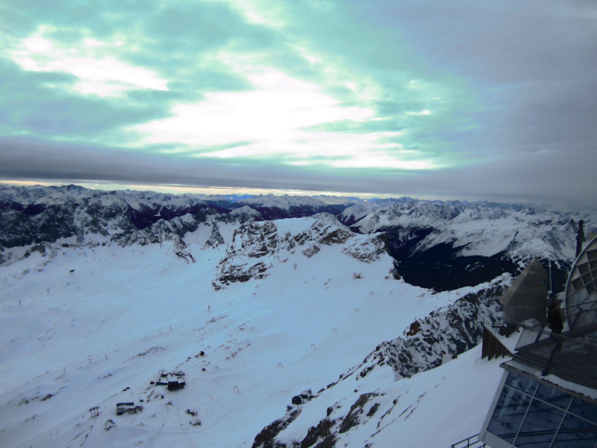Skipiste Zugspitzplatt auf dem Zugspitze