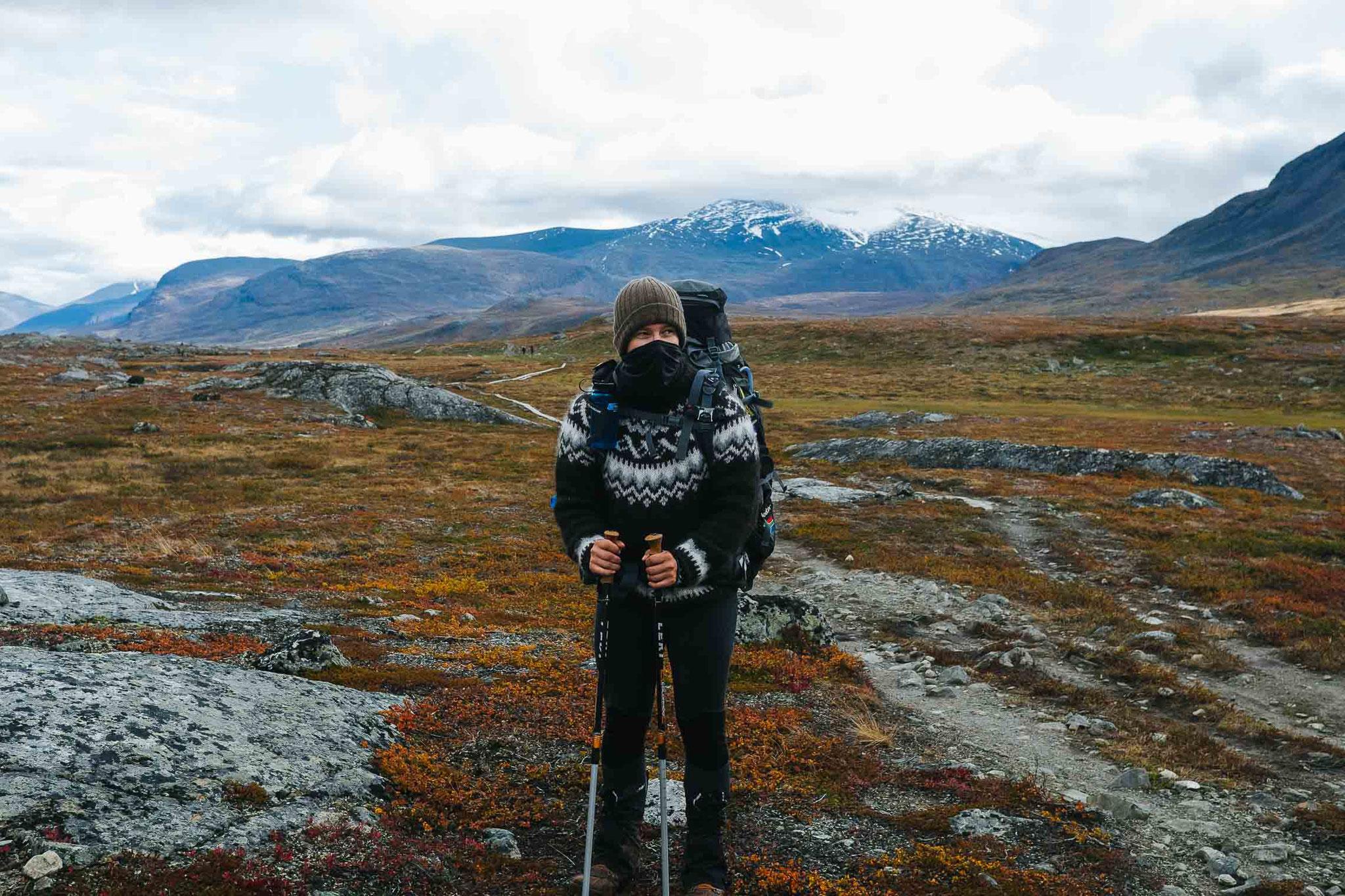 Die optimale Kluft zum Wandern im Herbst auf dem Kungsleden