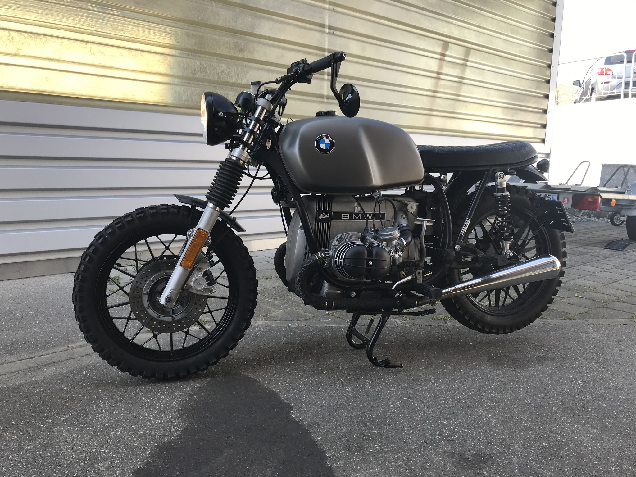BMW R80 R65 Custom Umbau Hattech Anthrazit Heck DTC