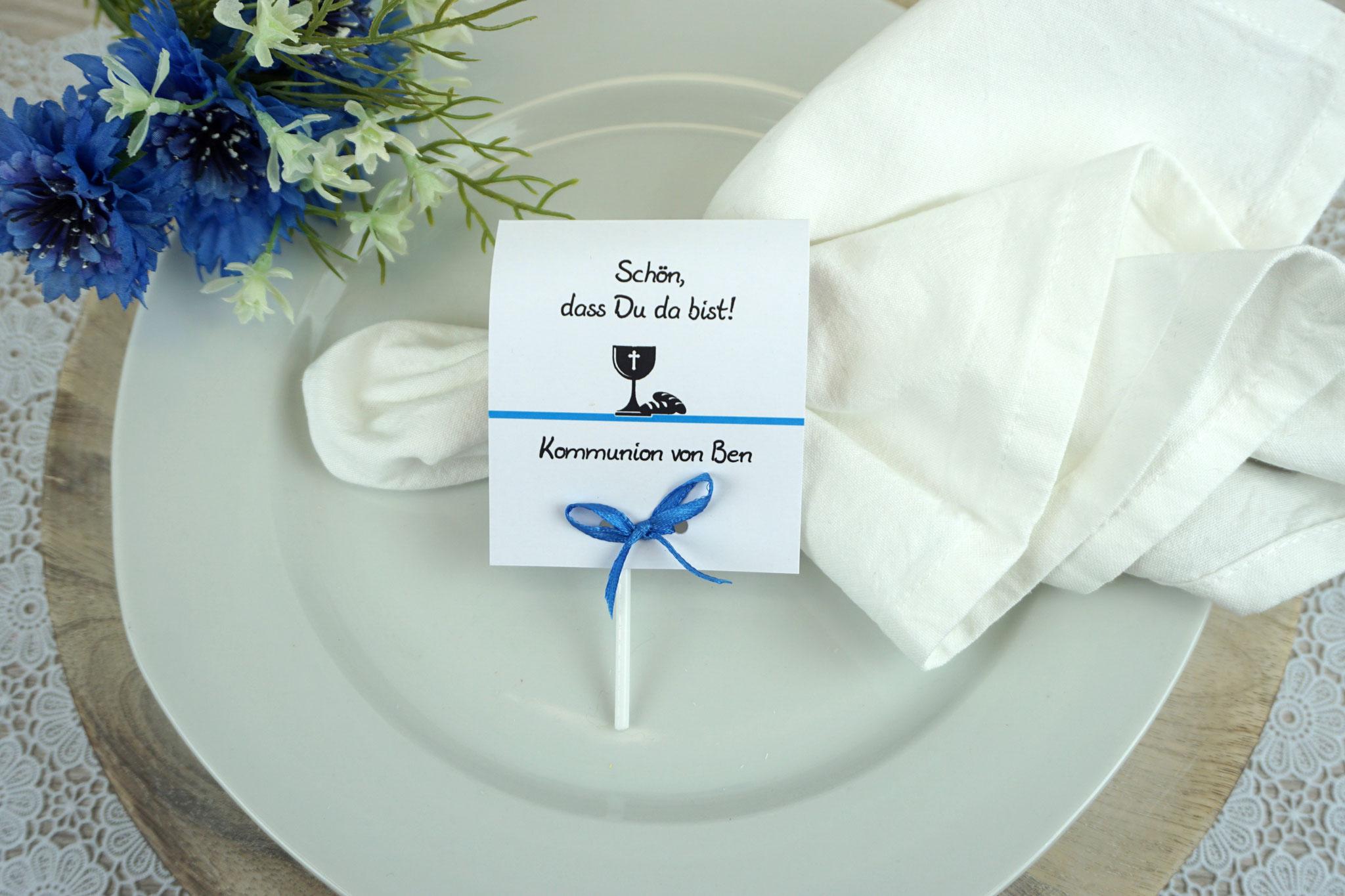 Lutscher Design Brot/Kelch Farbe Blau