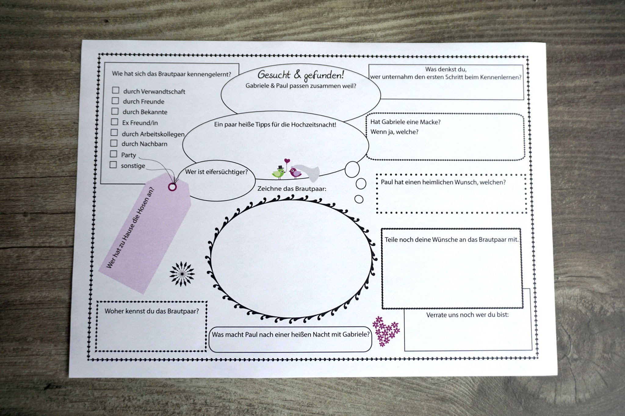 "Gästebuch/Gästespiel ""Personalisiert"" DIN A5; Sonderanfertigung"