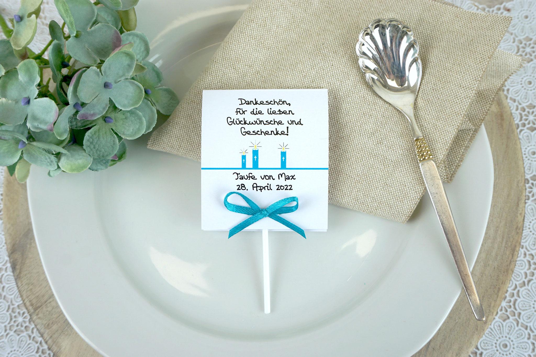 Lutscher Design Kerzen Aqua - Schrift Dulce's Font