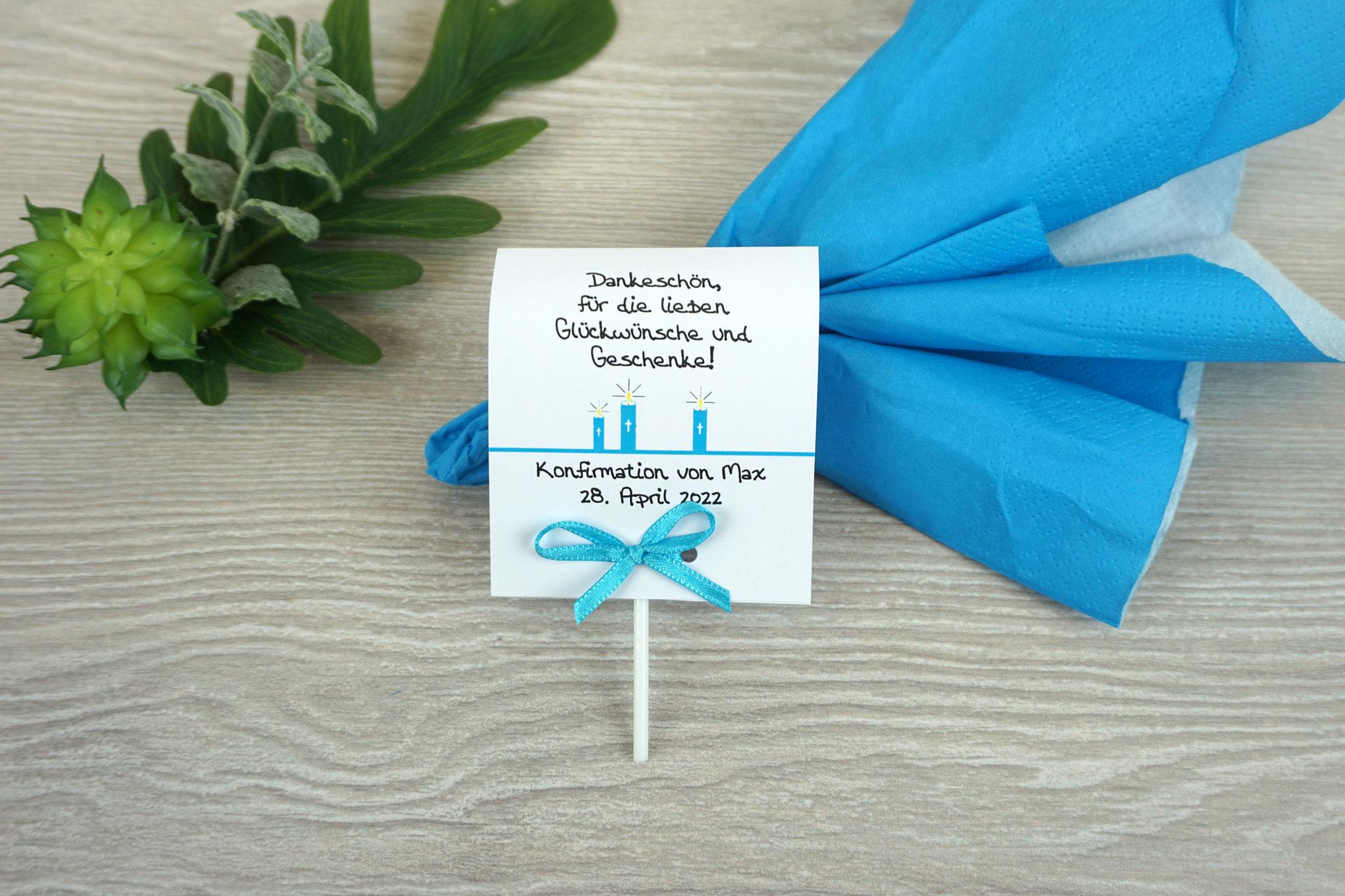 Lutscher Design Kerzen Farbe Aqua
