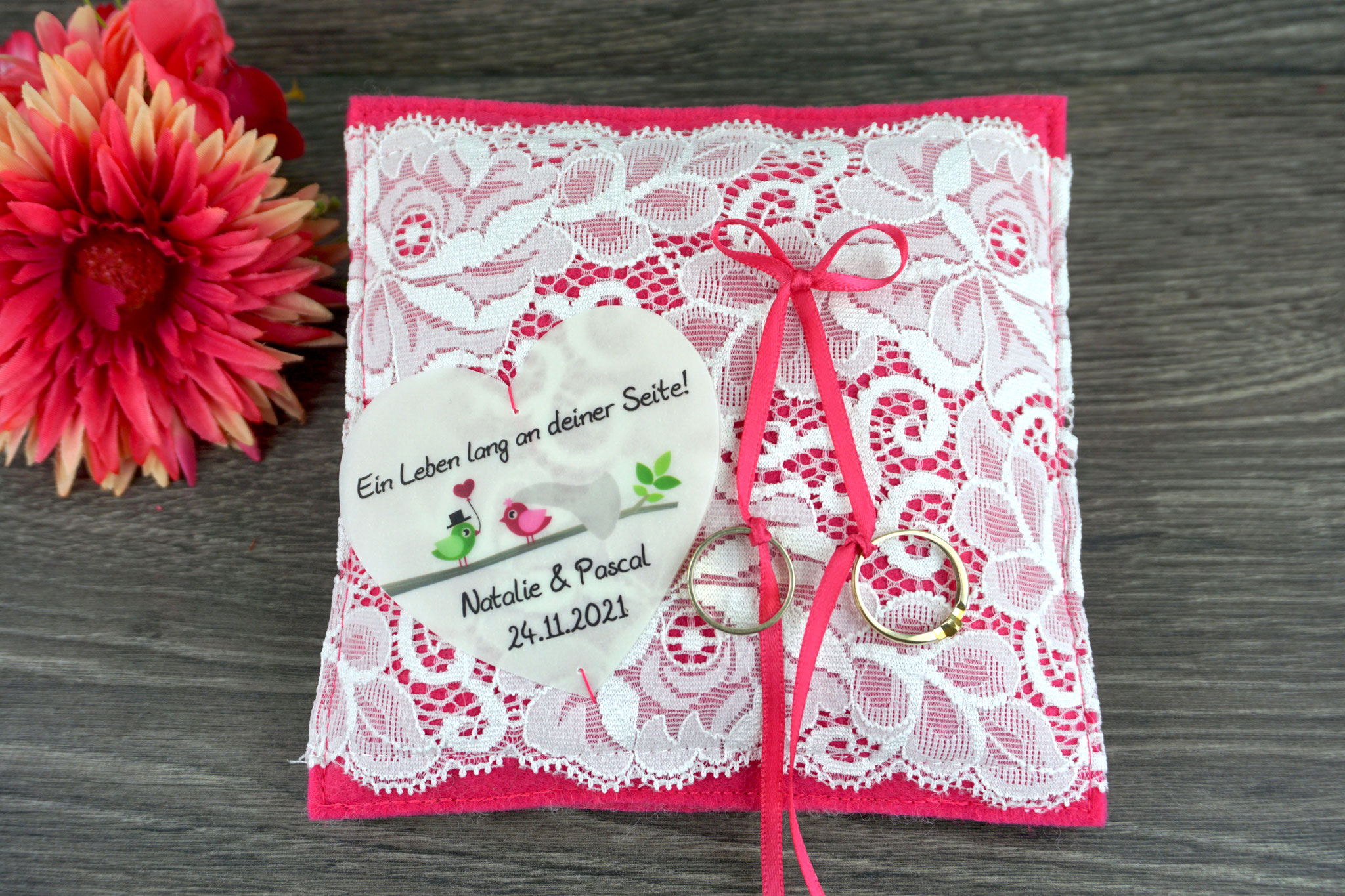 Ringkissen Samira Filz pink