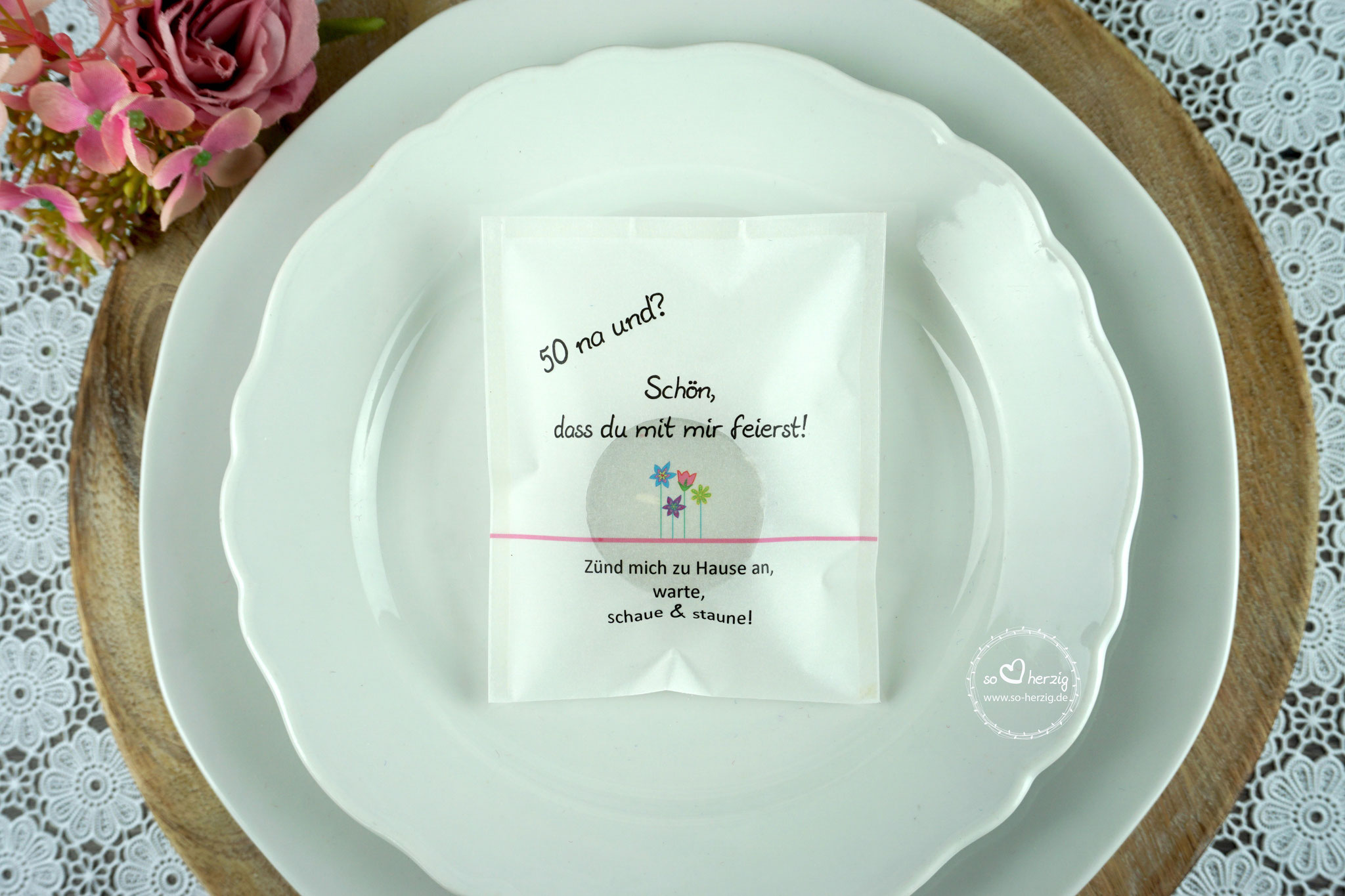 """Licht-Botschaft Design """"Blumenwiese"""" rosa"""