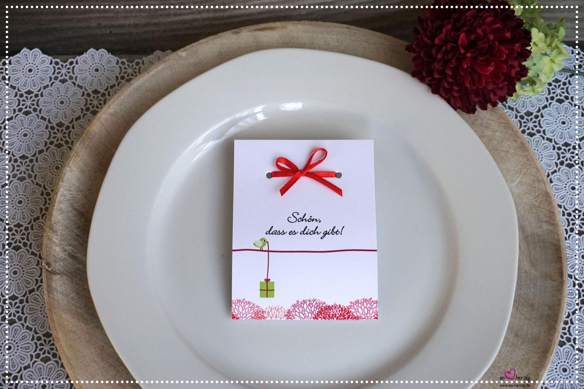 Fruchtgummi Giveaway Design kleines Geschenk rot/grün