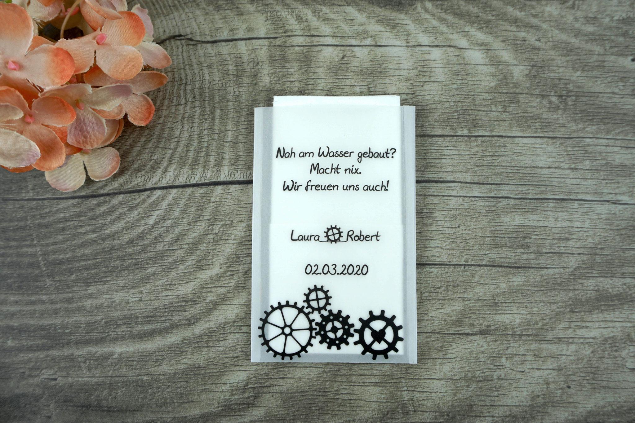 Freudentränen Taschentücher Flach, Design Steampunk Farbe Schwarz