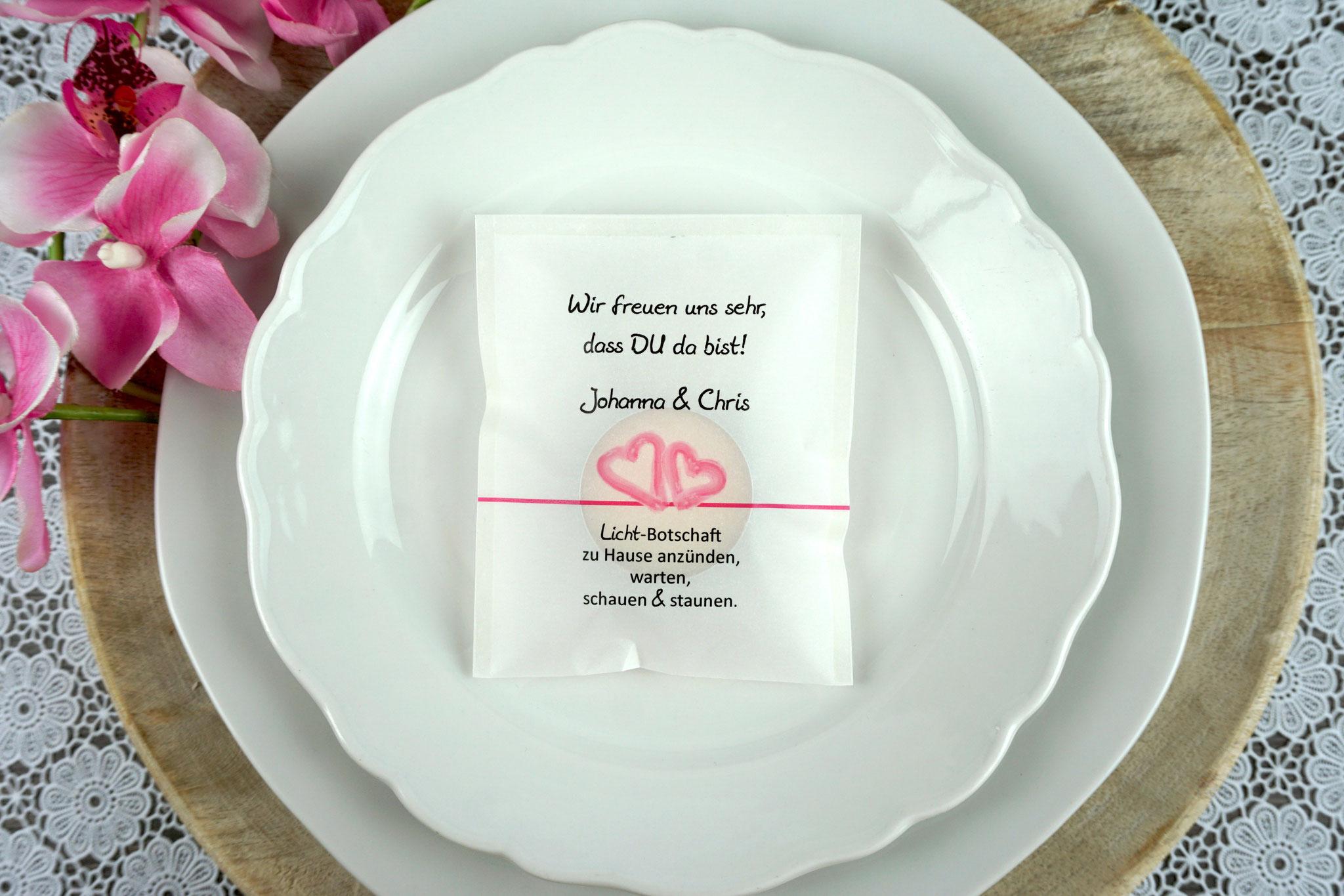 """Licht-Botschaft Design """"Aquarellherzen"""", Farbe Pink"""