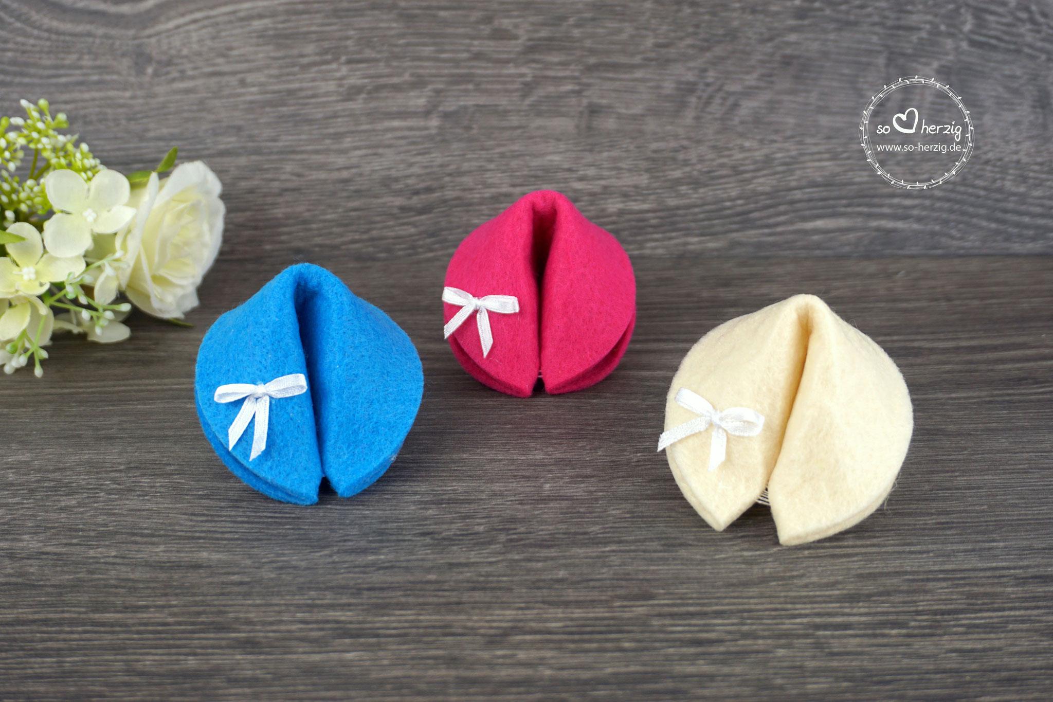 Filzkekse klein Beige, Cyclam, Blau