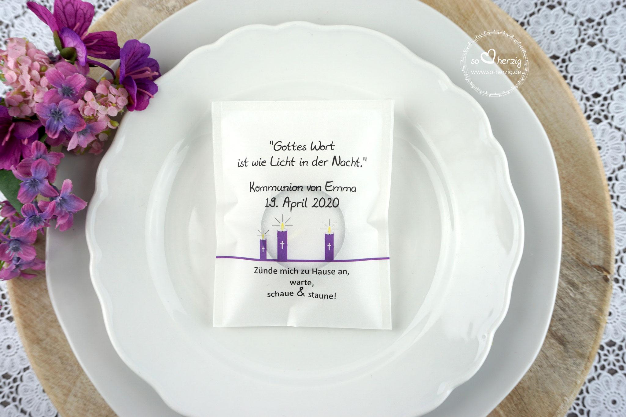 Licht-Botschaft Design Kerzen Lila