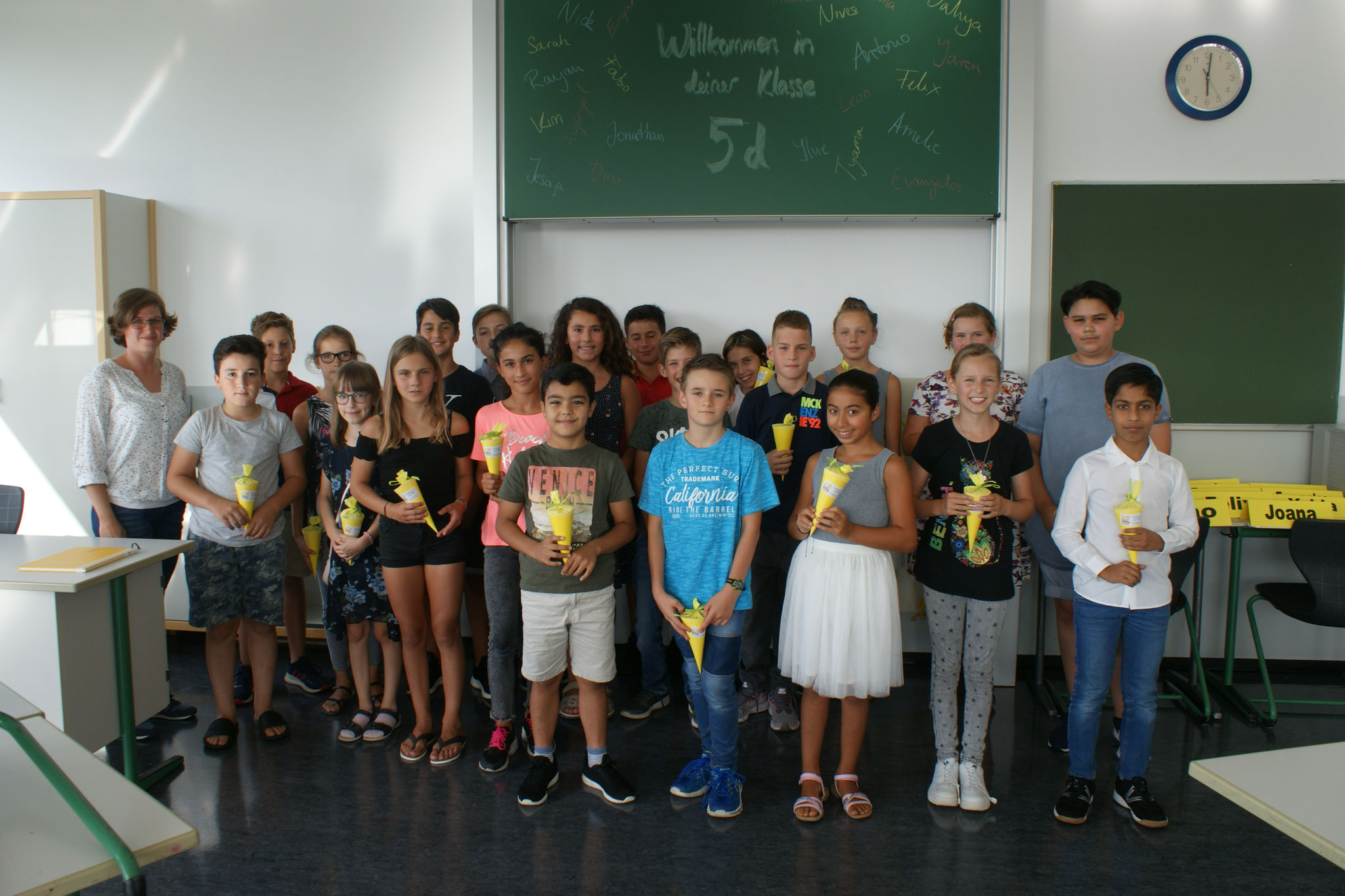 Klasse 5d, Klassenlehrerin Miriam Ott