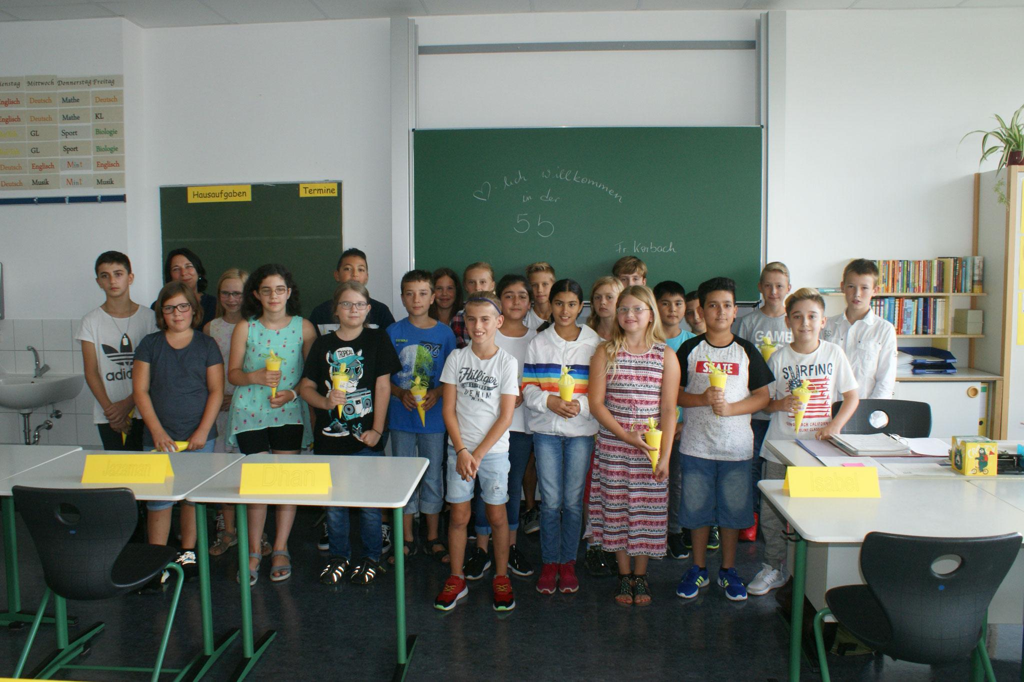 Klasse 5b, Klassenlehrer Sabine Korbach