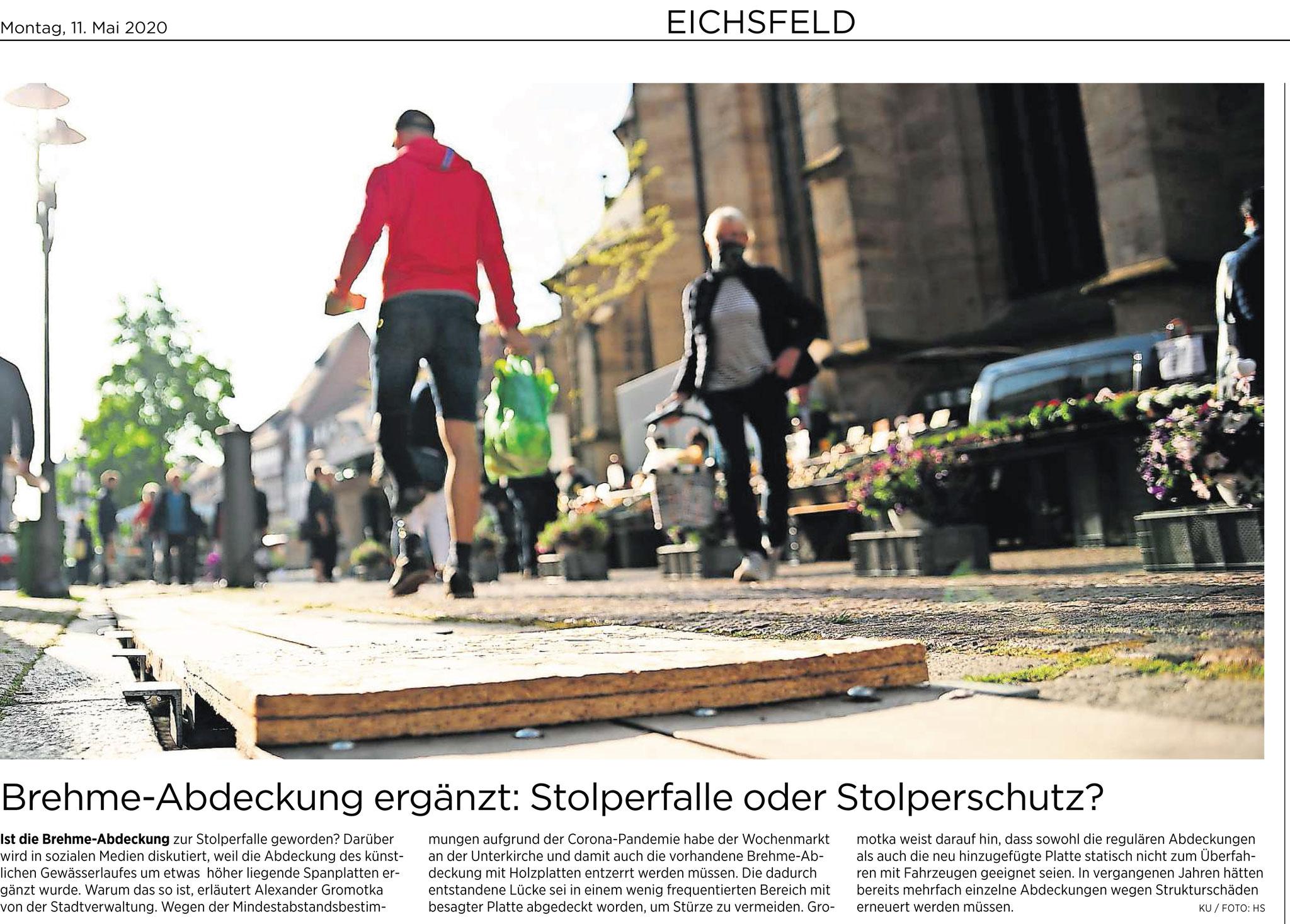 Eichsfelder Tageblatt 11.05.2020