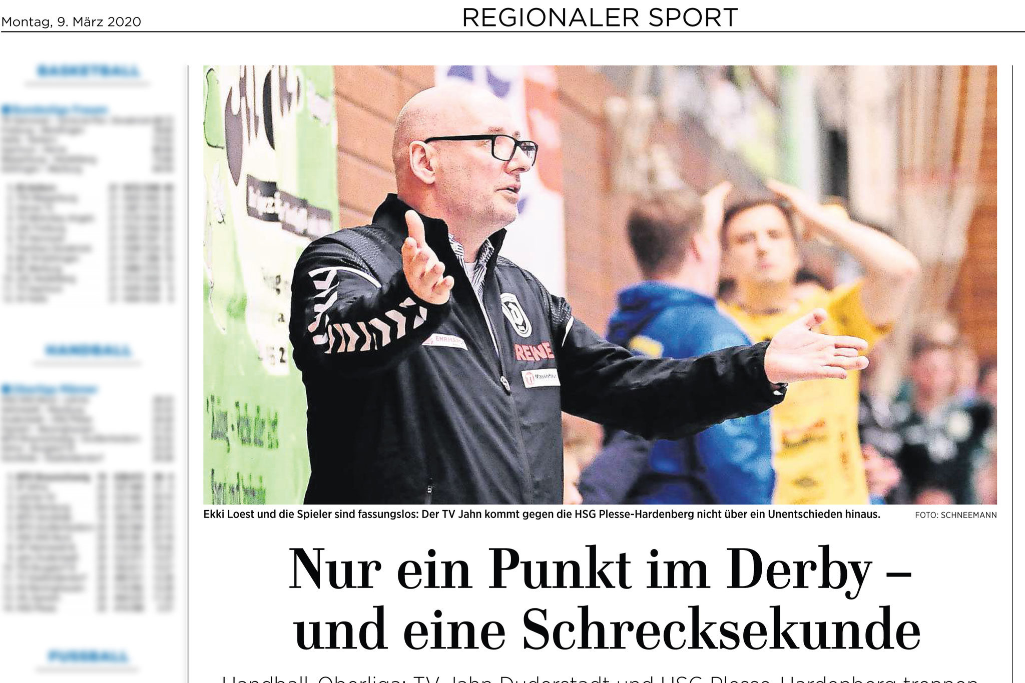 Eichsfelder Tageblatt: Handball Oberliga TV Jahn Duderstadt vs HSG Plesse-Hardenberg