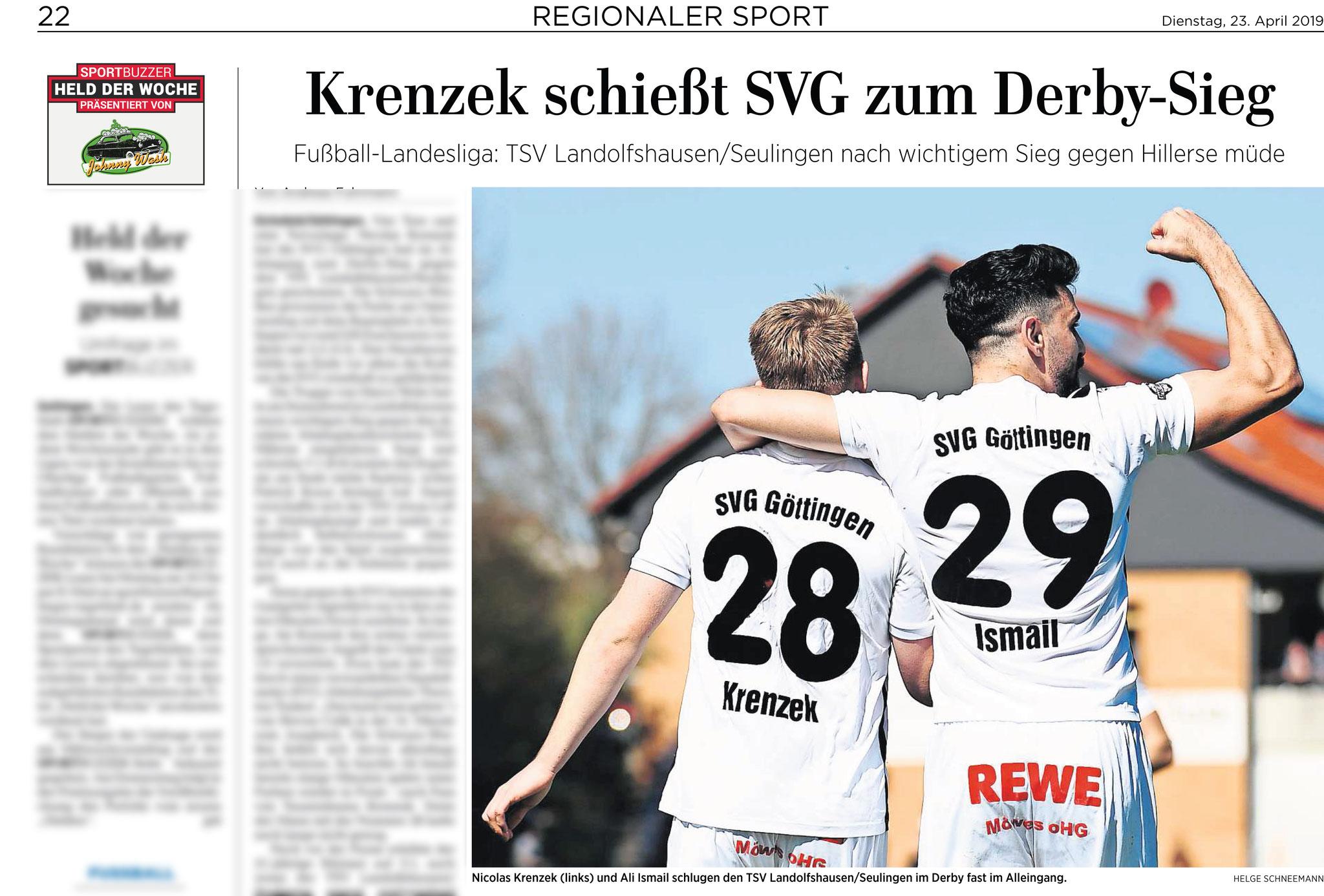 Göttinger Tageblatt 23.04.2019