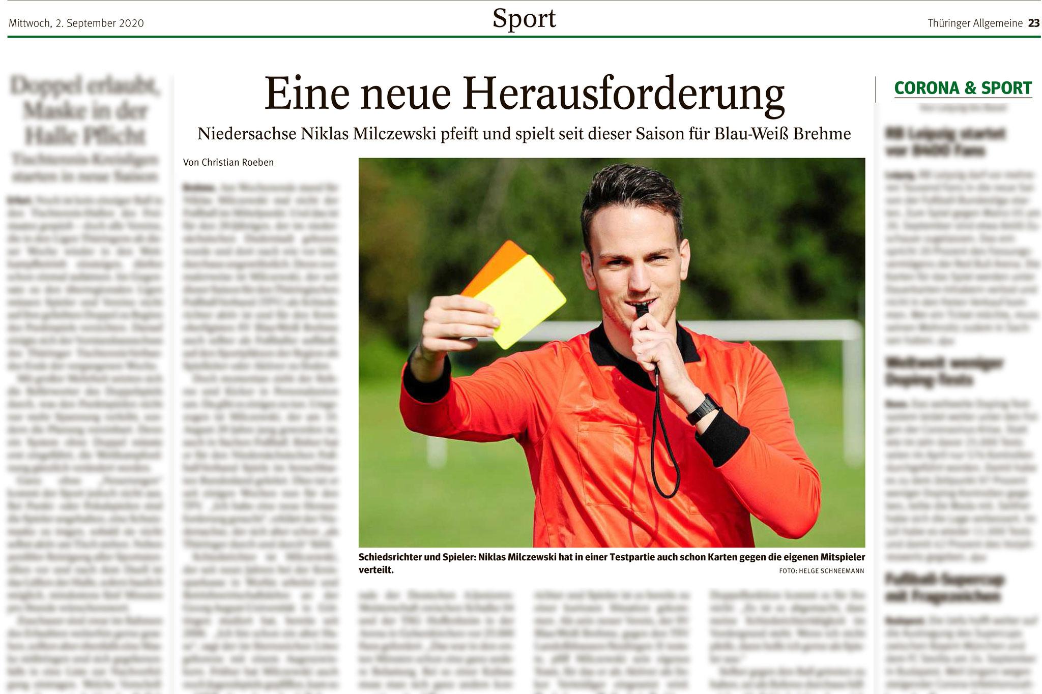 Thüringer Allgemeine 02.09.2020