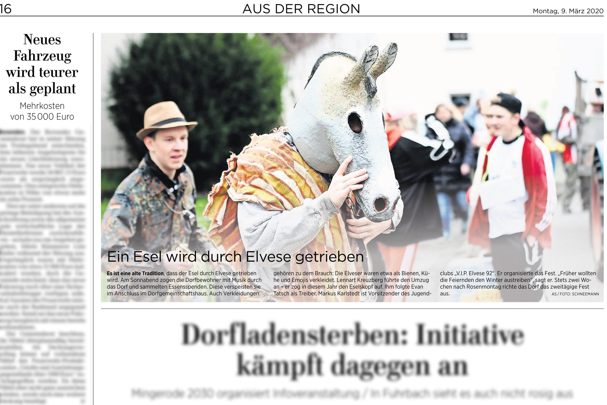 Göttinger Tageblatt: Eselfest in Elvese