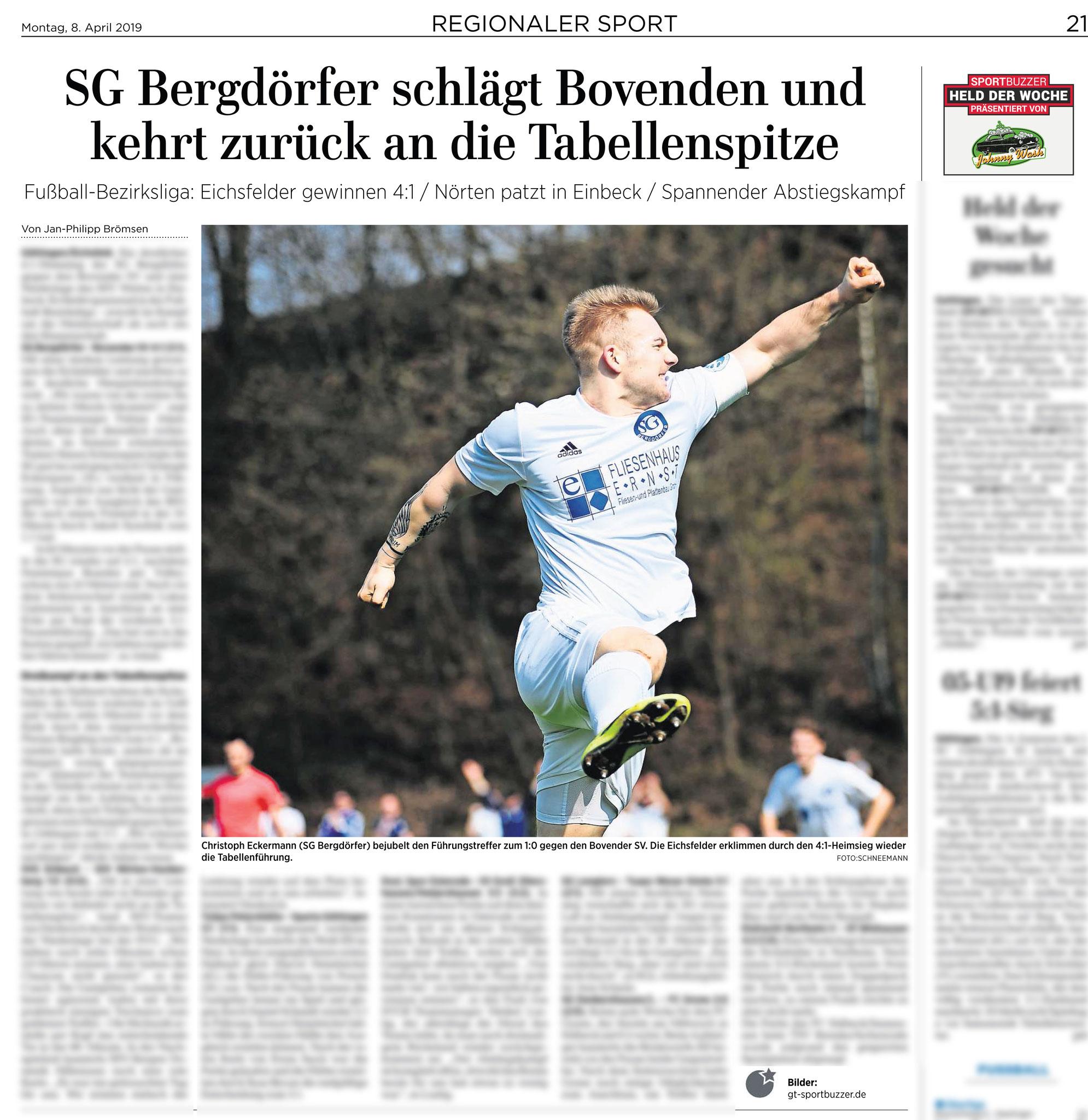 Göttinger Tageblatt 08.04.2019