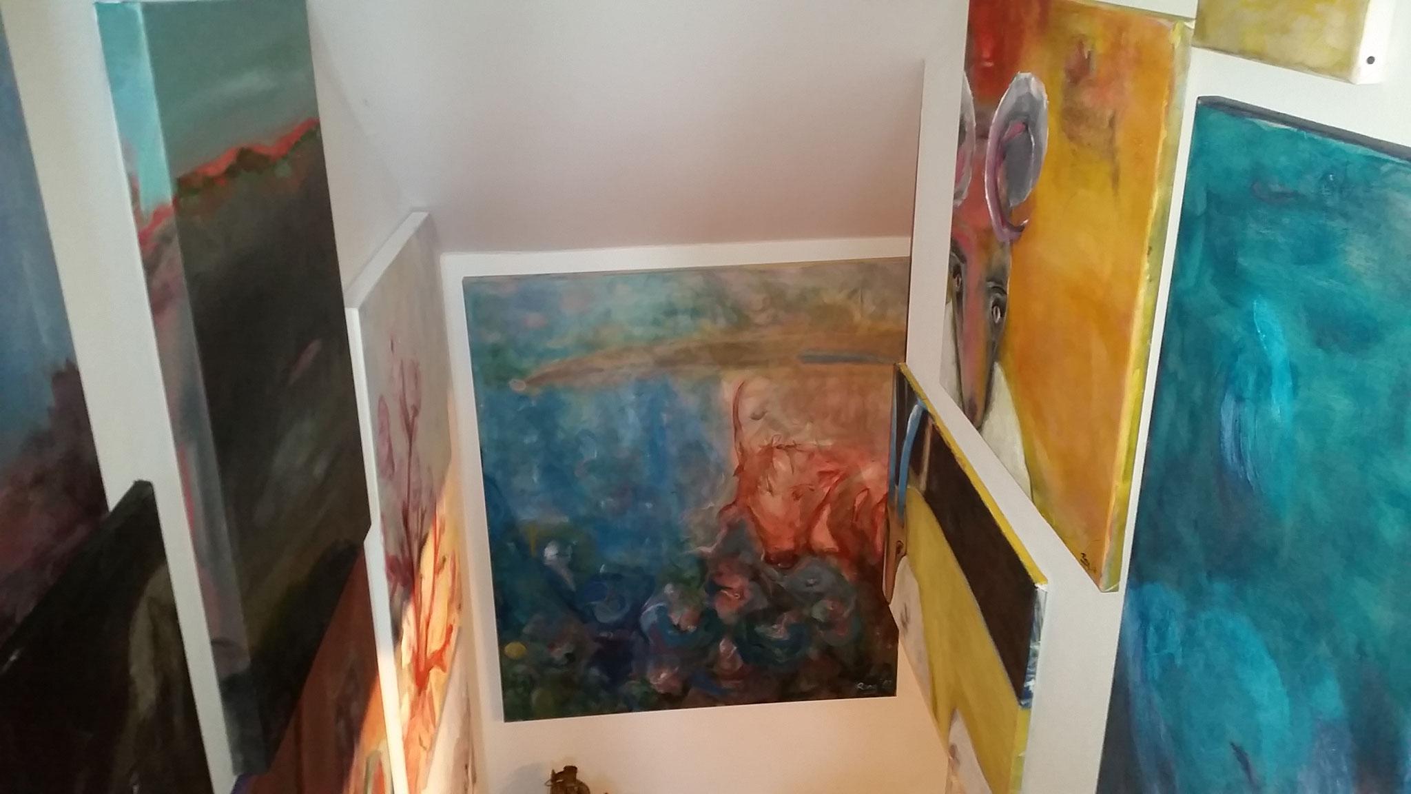 Treppen-Galerie 1, Maler Künstlerin Bozana