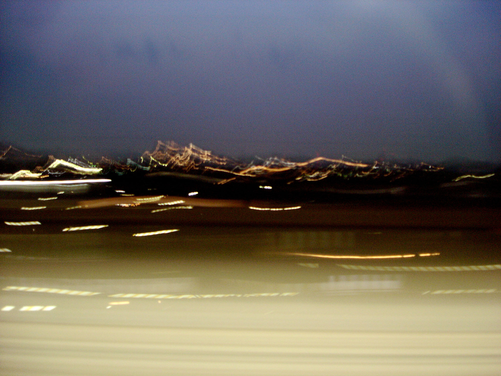 shinkansen nachts