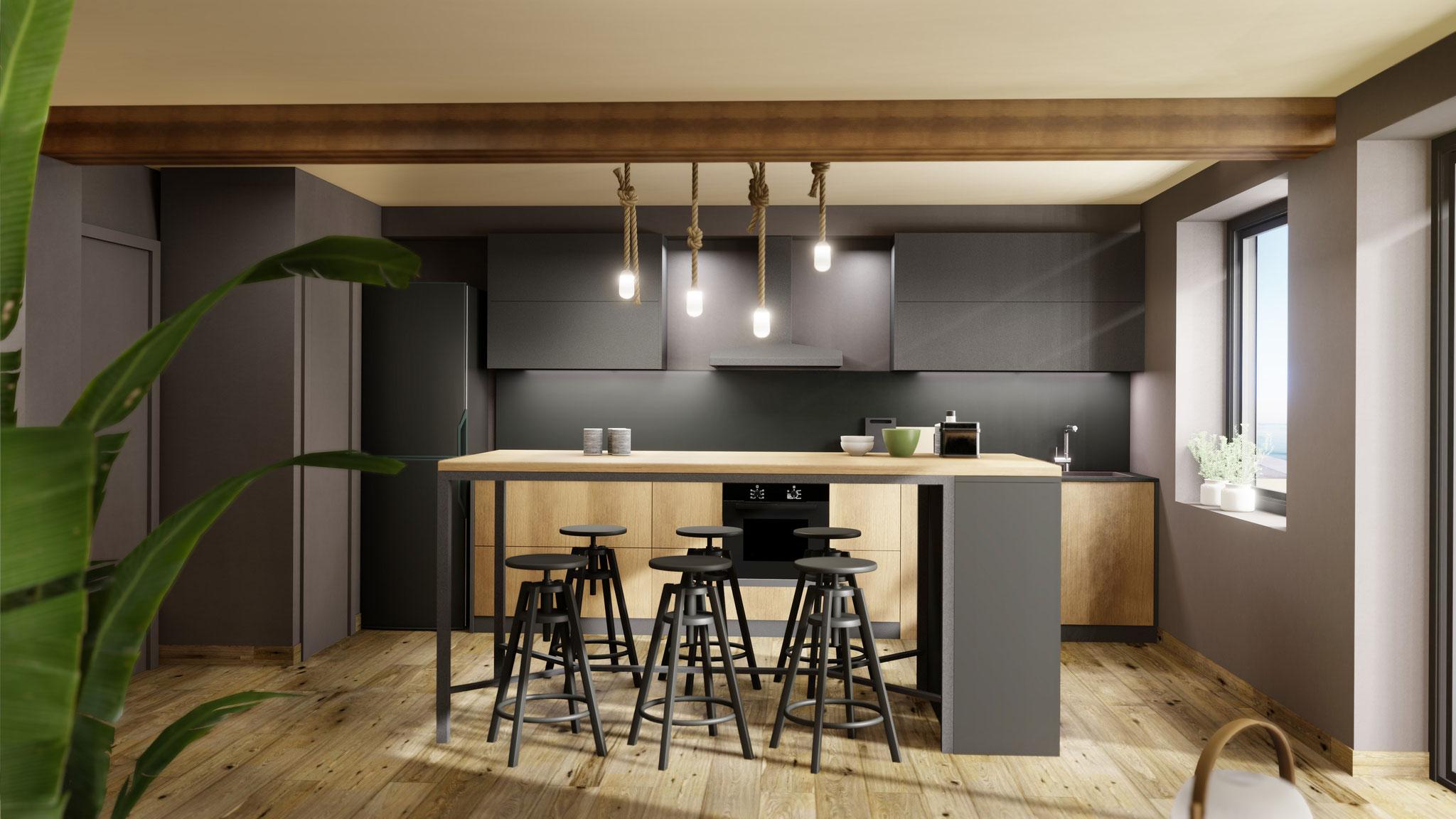 Propuesta reforma piso 3D - Verín