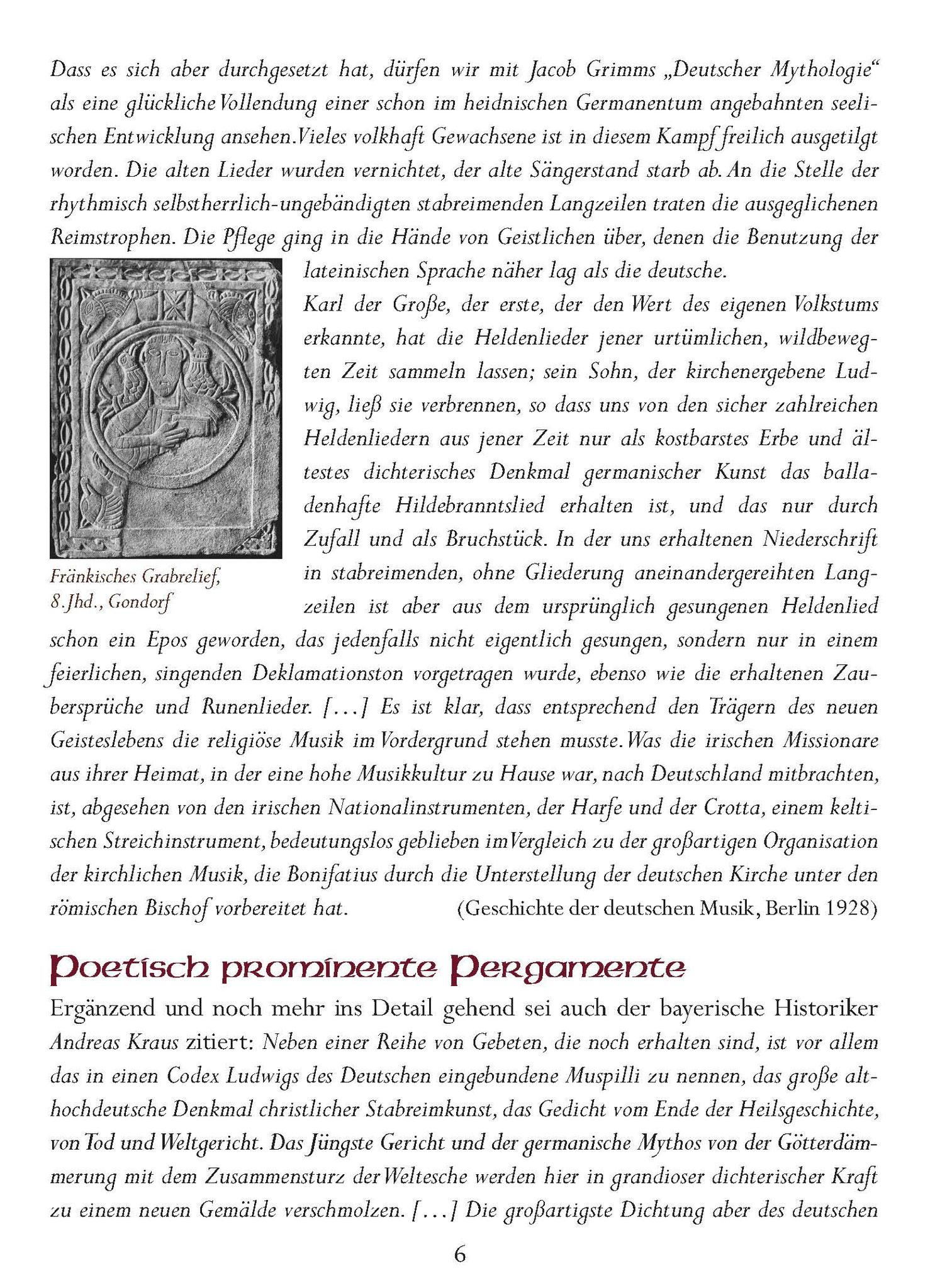 Wessobrunner Gebet - Booklet Seite 6