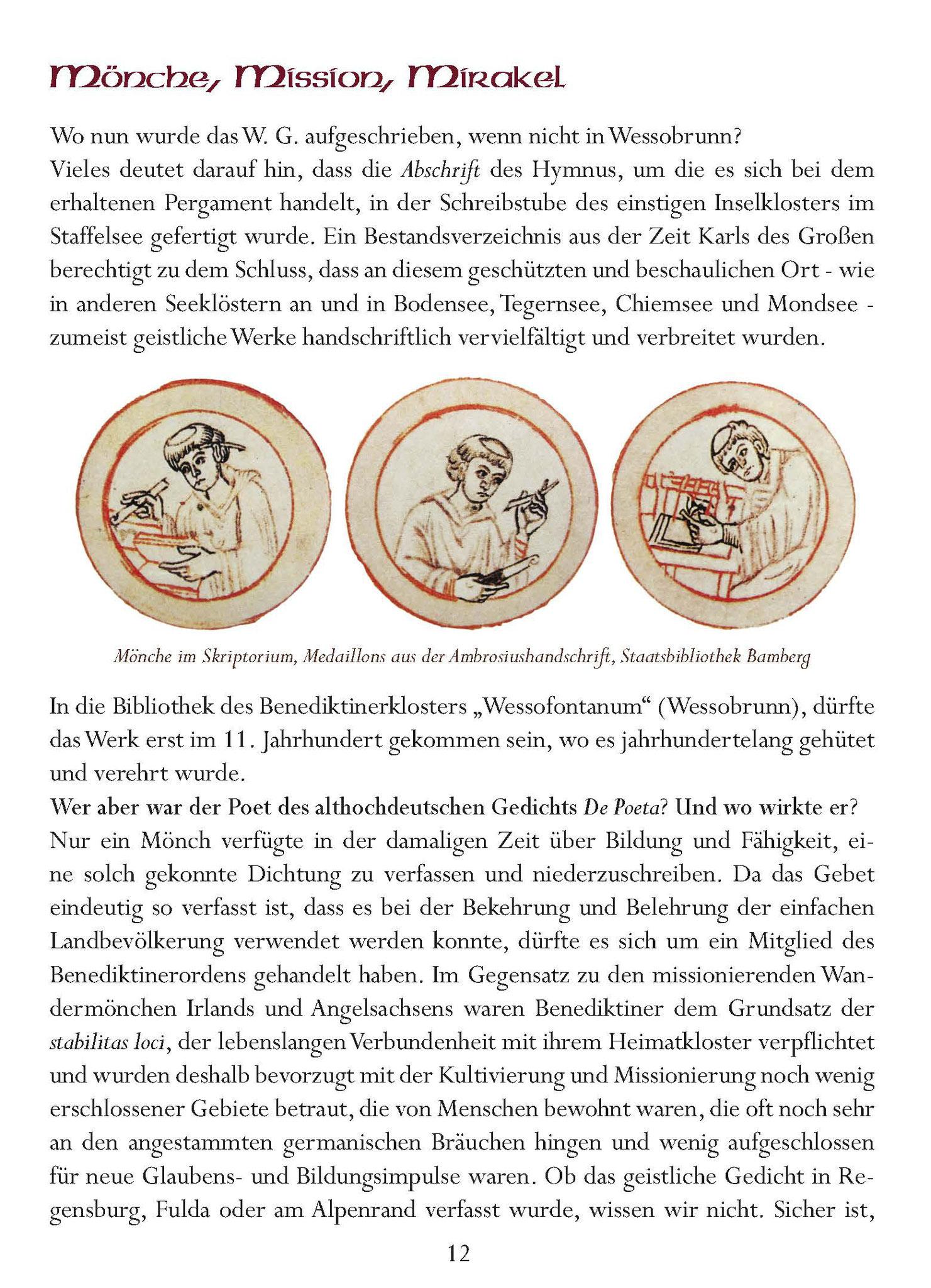 Wessobrunner Gebet - Booklet Seite 12