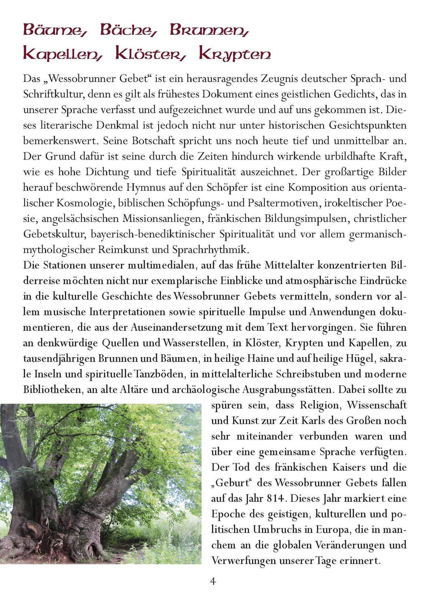 Wessobrunner Gebet - Booklet Seite 4