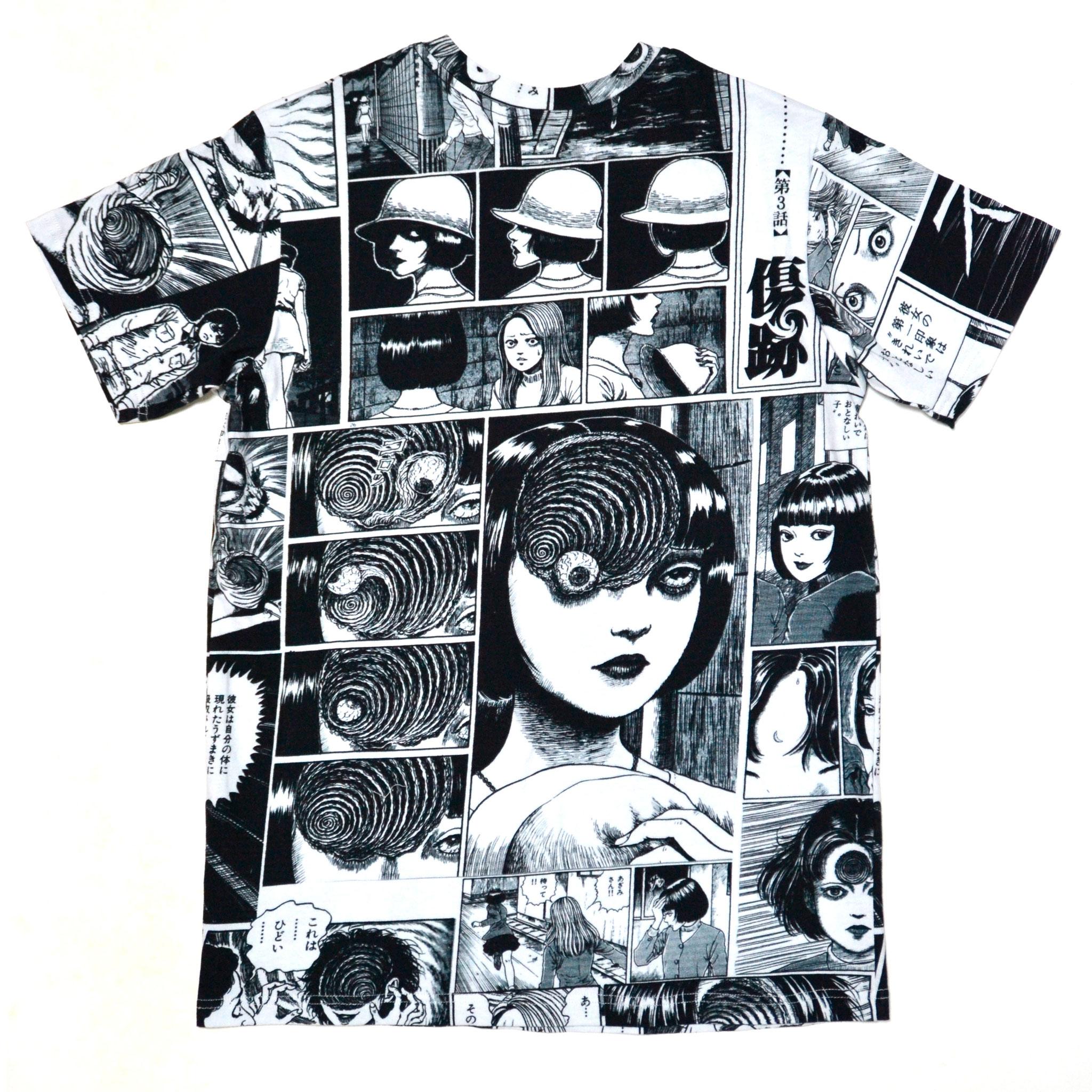あざみ総柄Tシャツ-P- (WHITE×BLACK) 背面