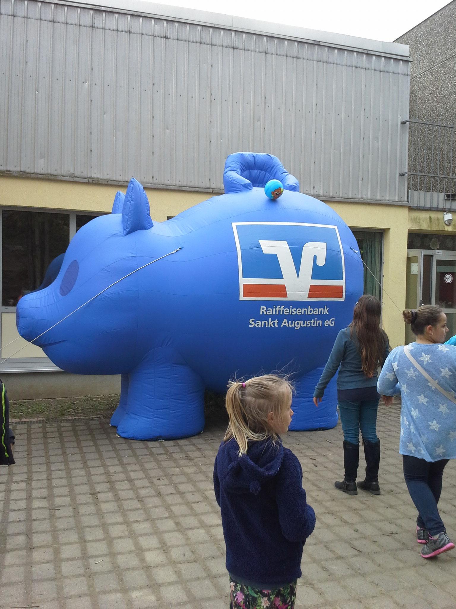 Das Schwein als Basketballkorb
