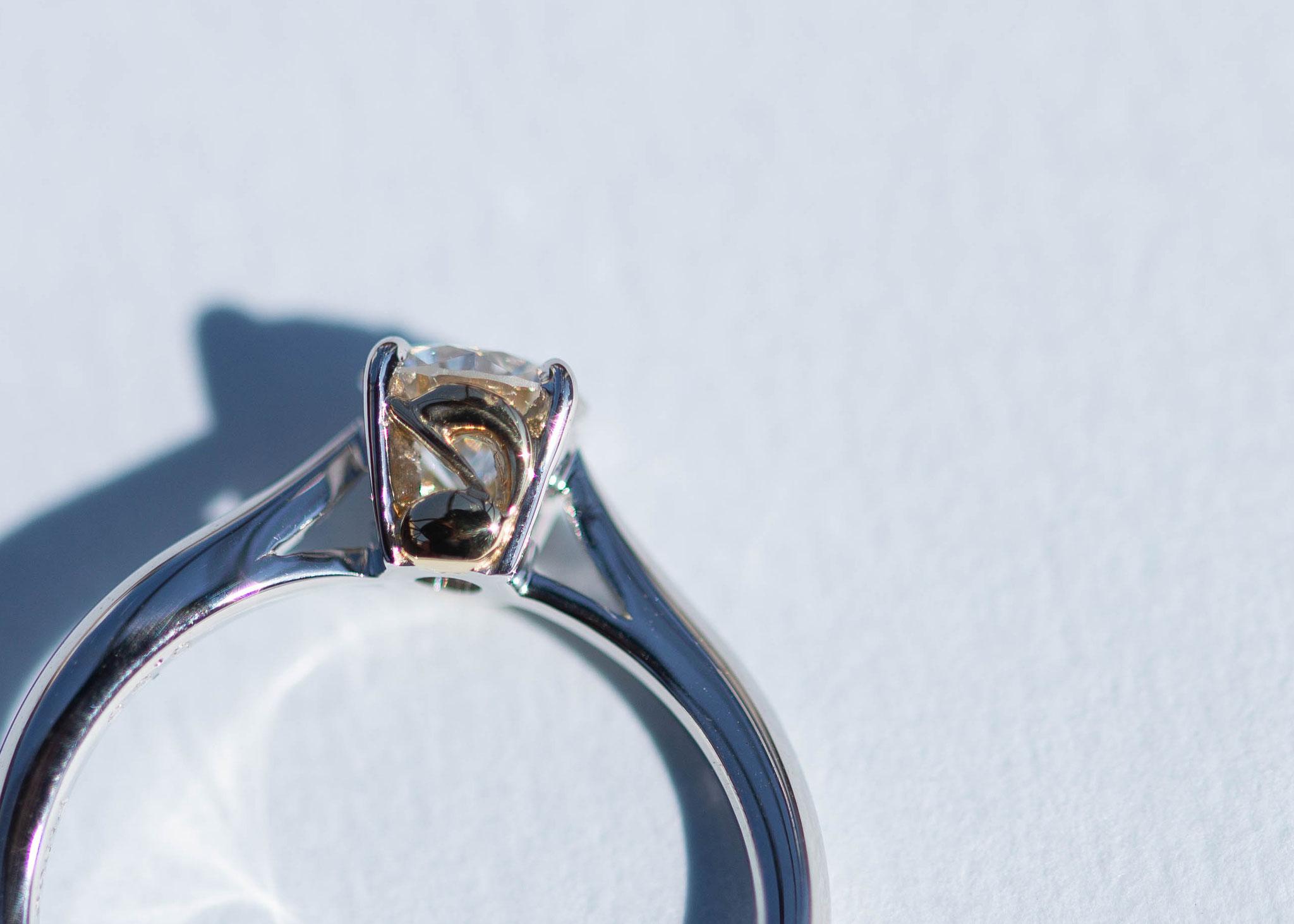 フルオーダーリフォーム 持ち込み石 ダイヤモンド 0.52ct   【Pt950×K18YG】