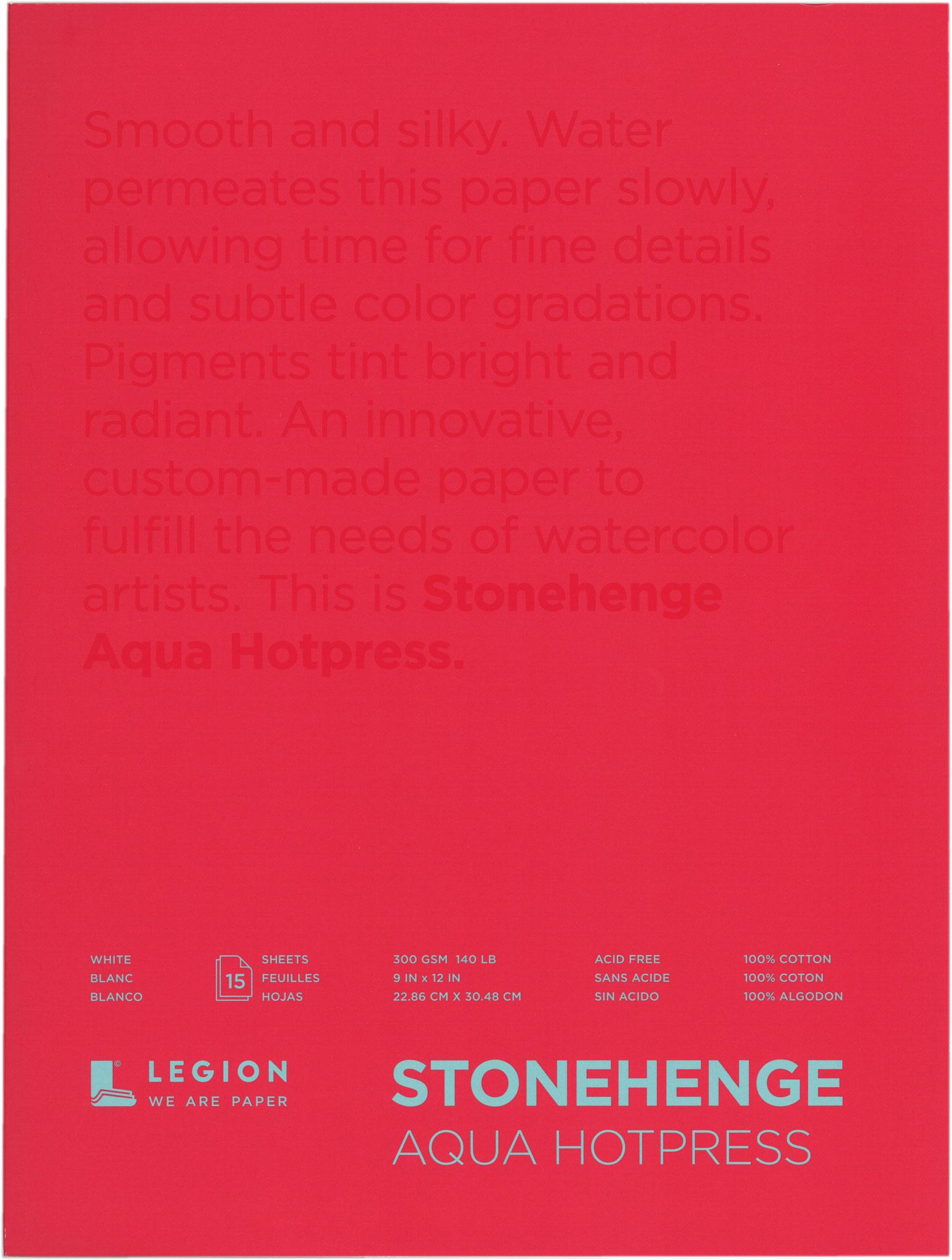"""株式会社ミューズ / ストーンヘンジ アクア HOT PRESS(細目) 9""""×12""""(22.86cm×25.4cm)"""