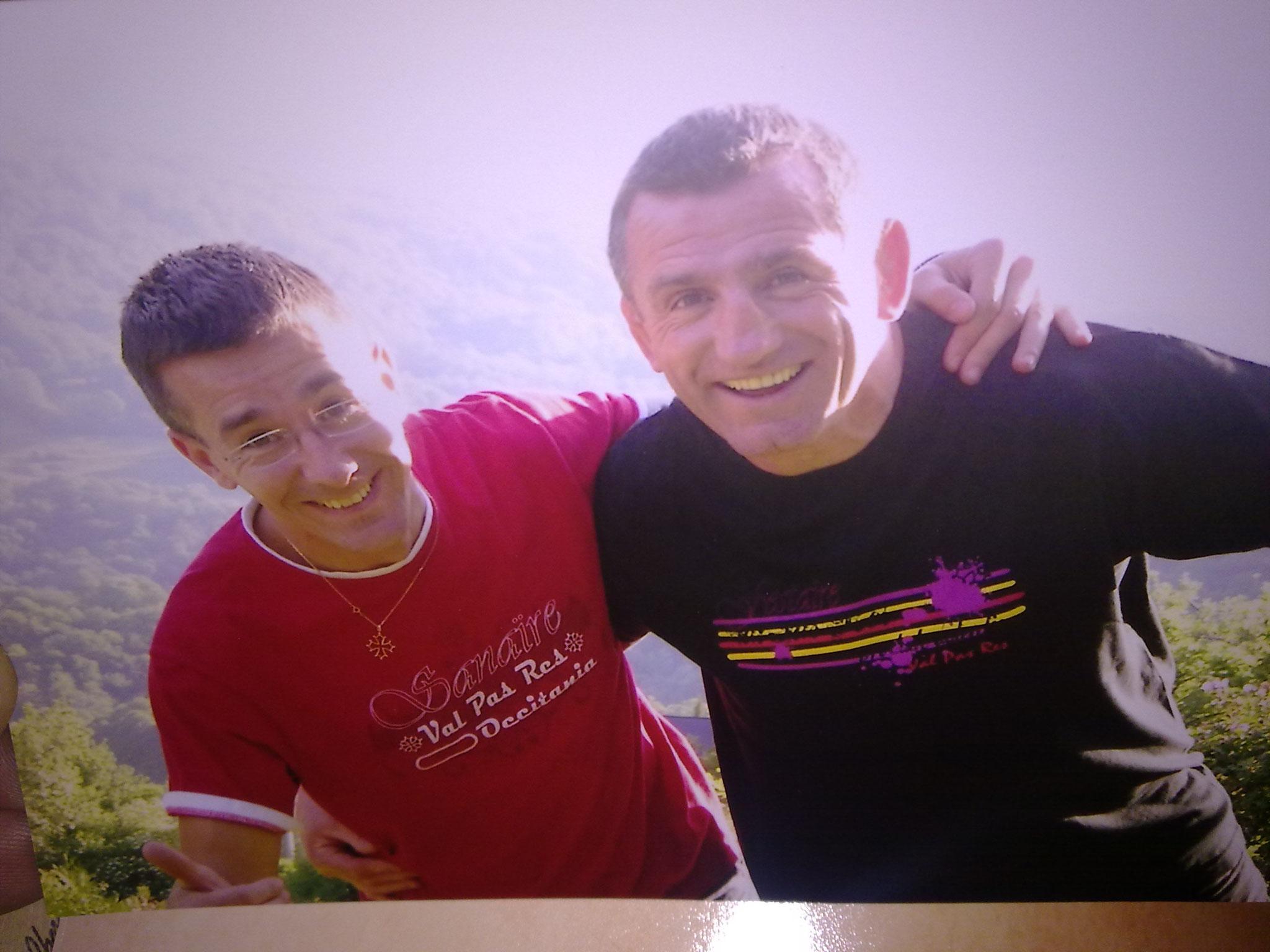 Avec mon ami Louisou ARMARY, pilier, ancien capitaine de l'équipe de France et 3 participations à la coupe du Monde.