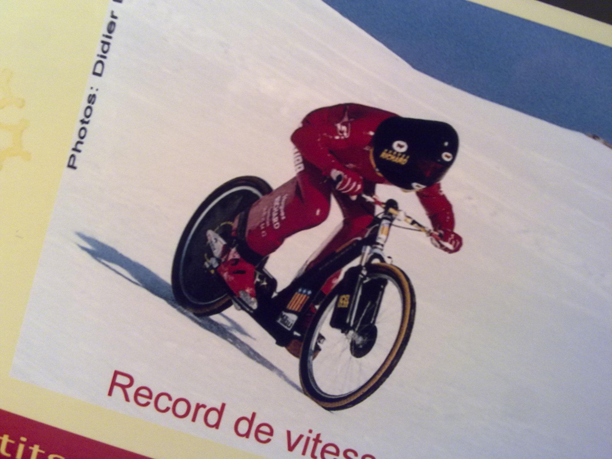 Vars, championnat du monde de vitesse en vélo (3ème)