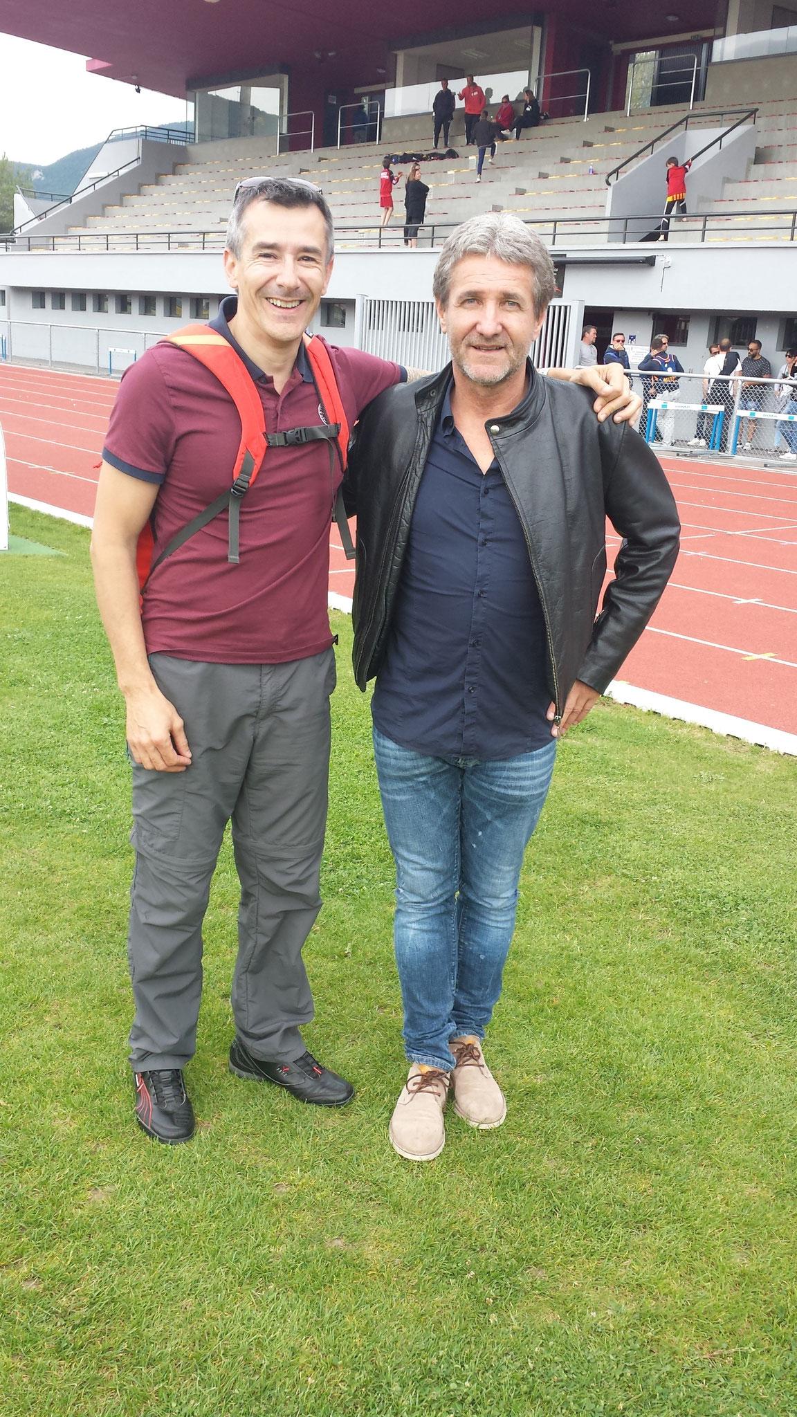 Avec Eric BELLUS ancien joueur de l'AS Saint ETIENNE et du TFC, sorti du SOM Football (Millau - 12)