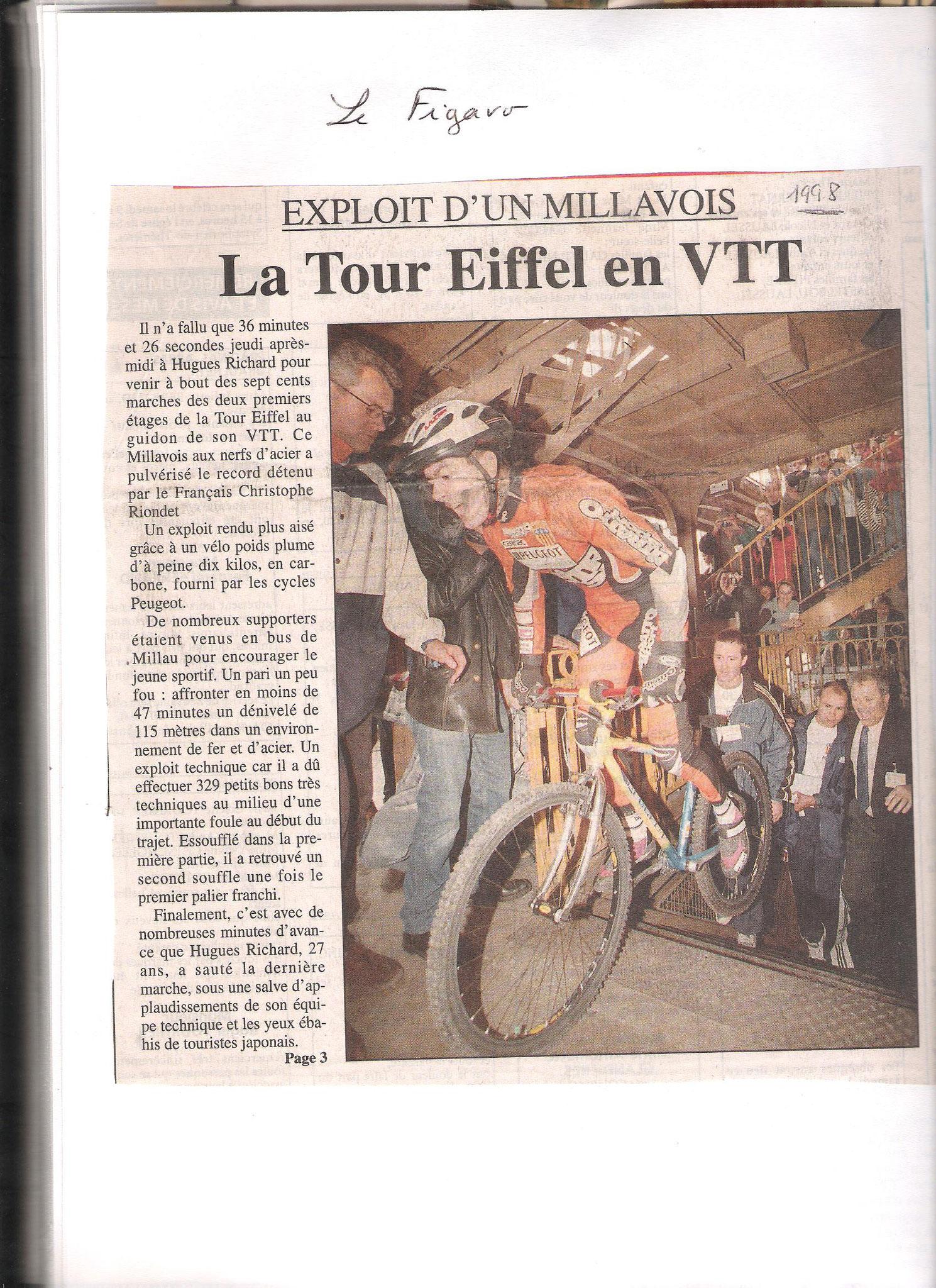 Record du Monde Tour EIFFEL 1998