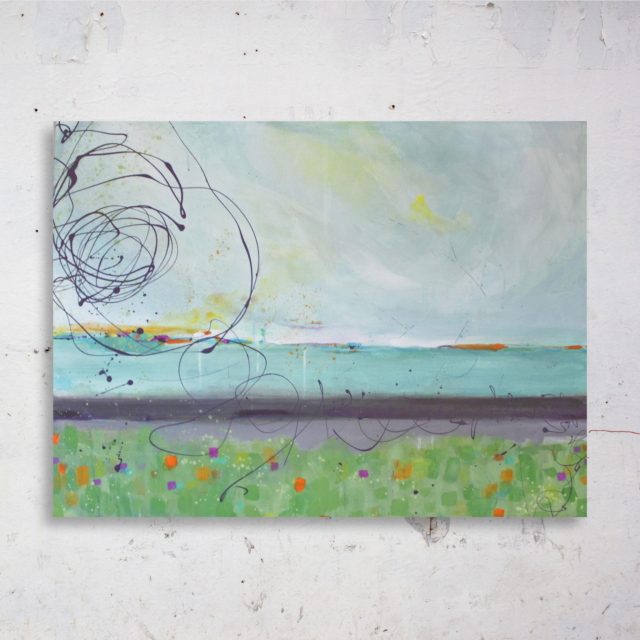 Paysage abstrait, peint à l'acrylique par VanessaMenardArtiste