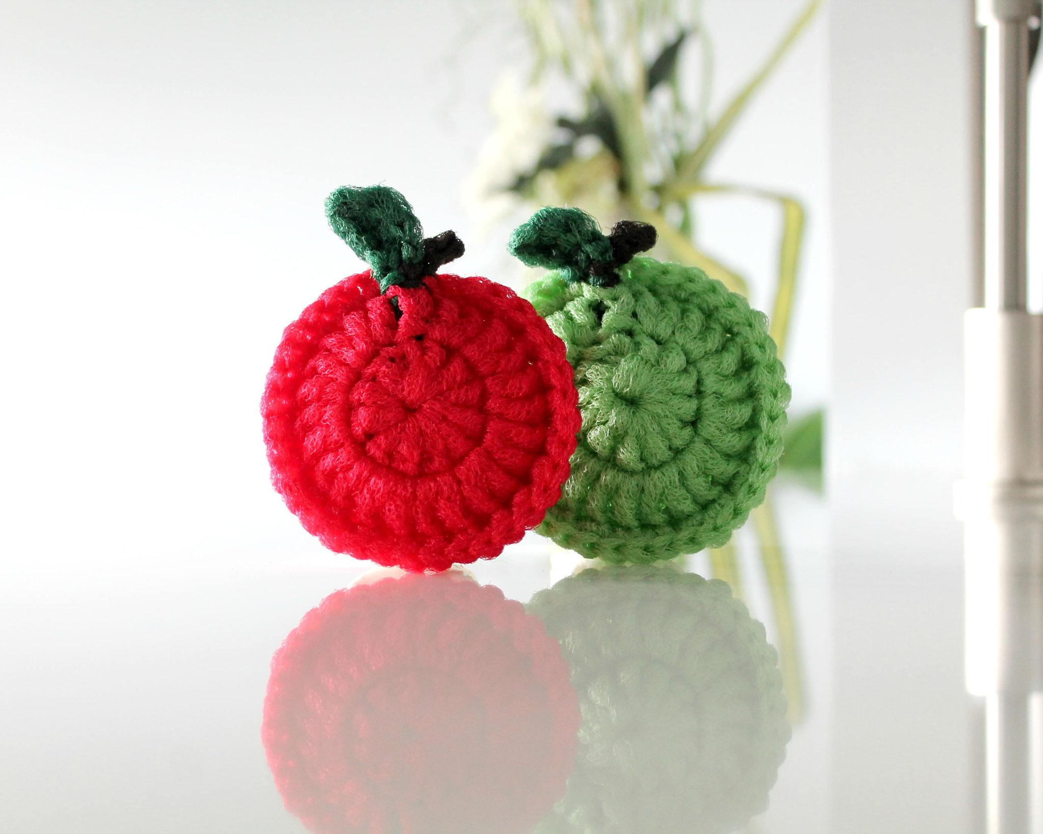 Tampon à récurer en forme de pomme