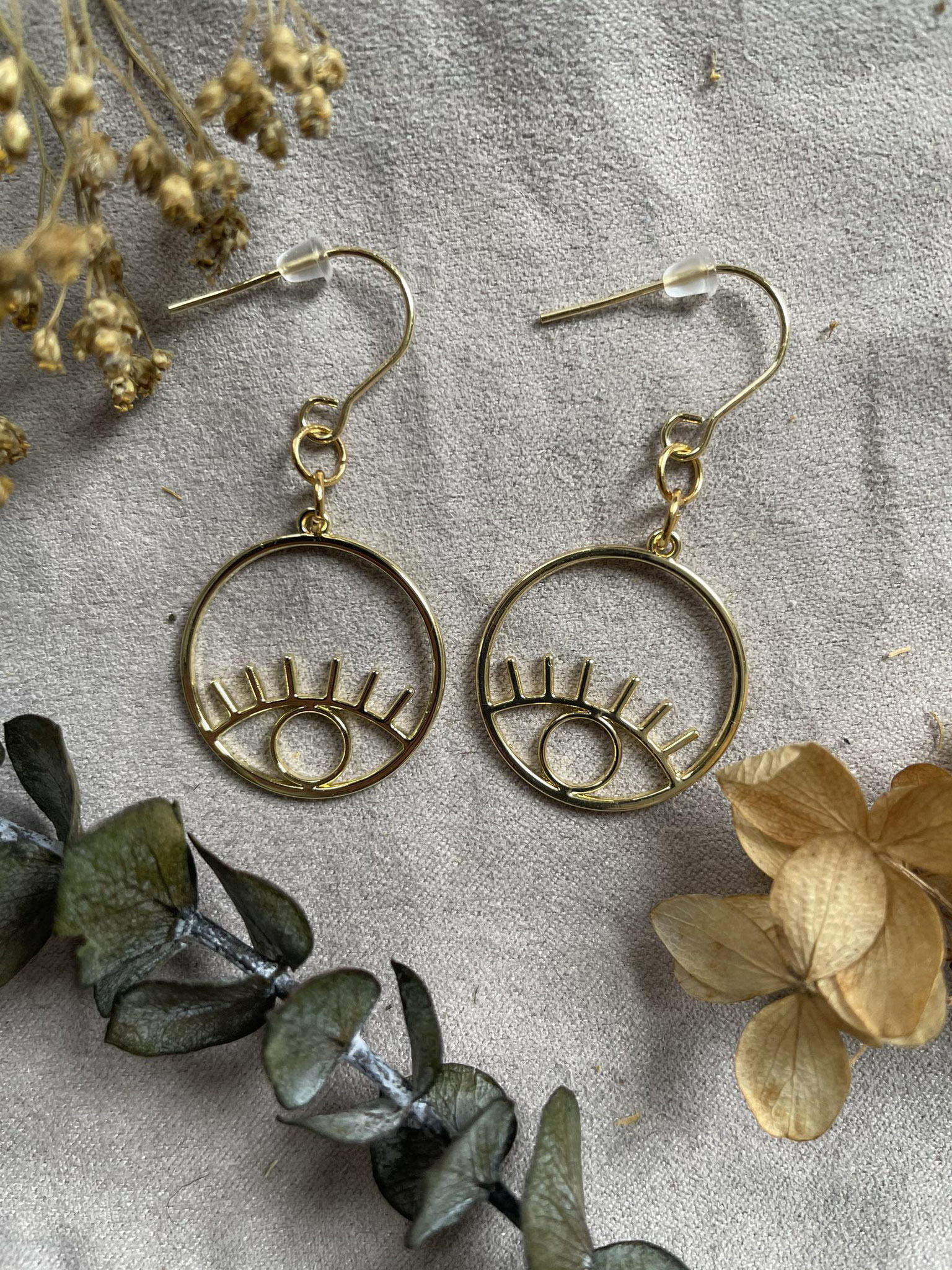 Eyes dangling earrings, 30$