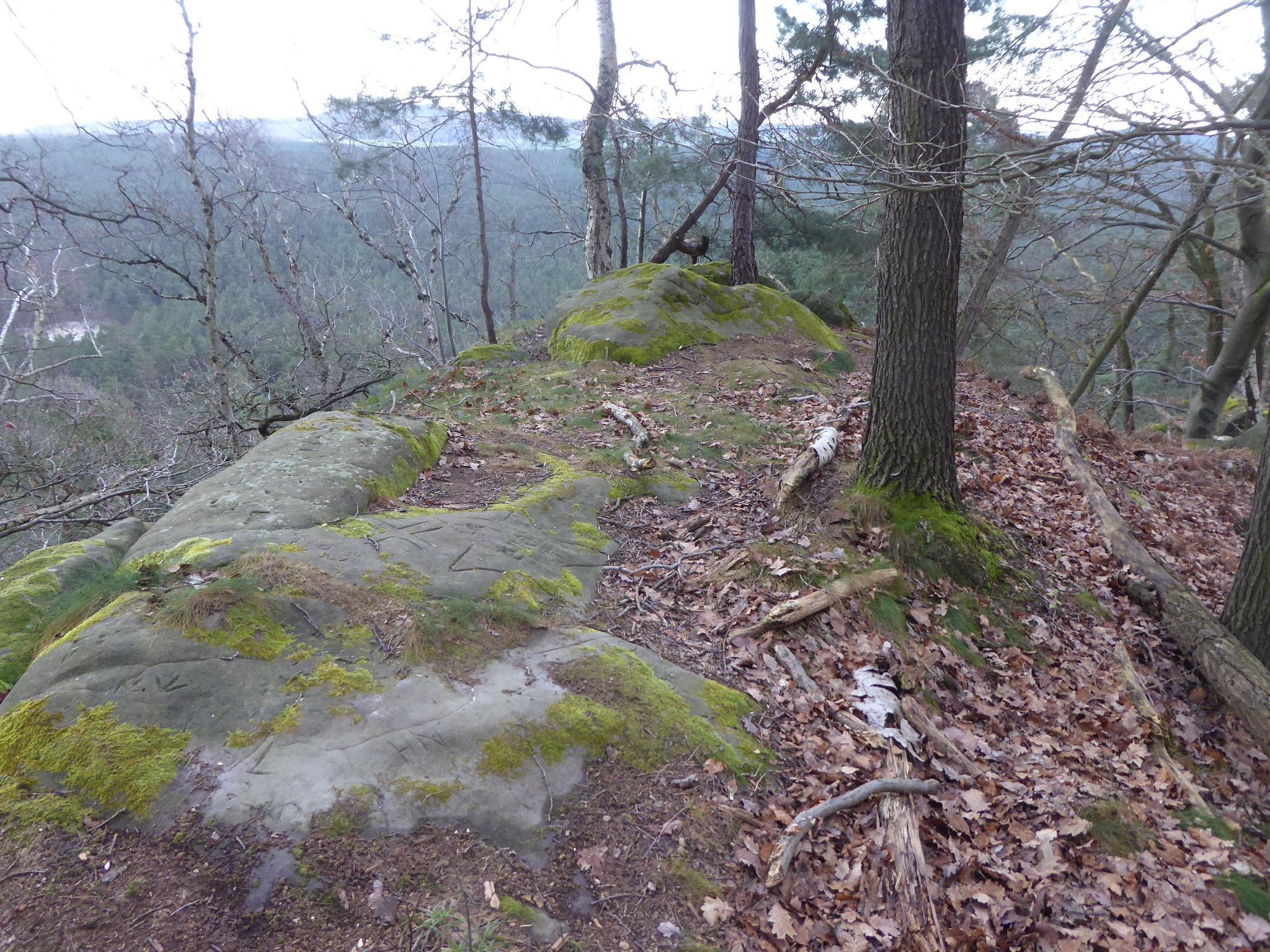 Blick von der Felsennase dort.