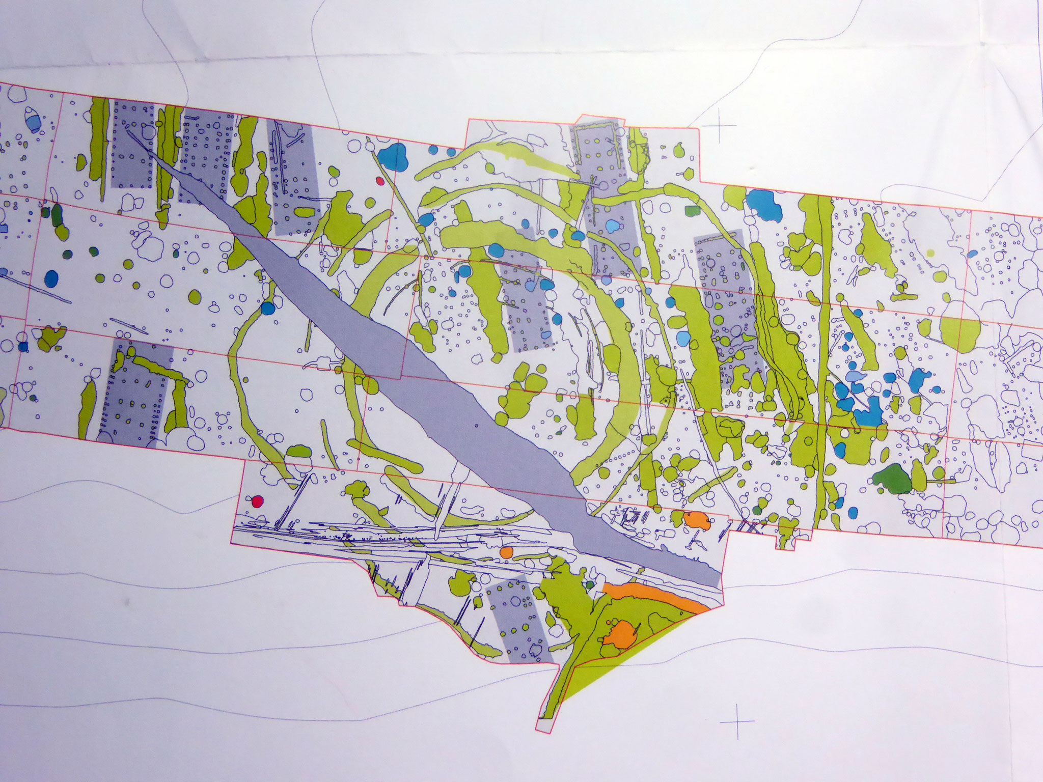 Bild der Bodenprospektion (Foto wurde v. Frau Michel M.A., FU Berlin z.Verfügung gestellt)