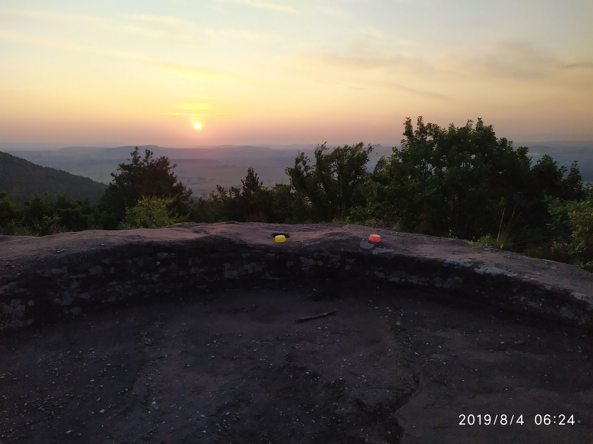 Beim Sonnenaufgang