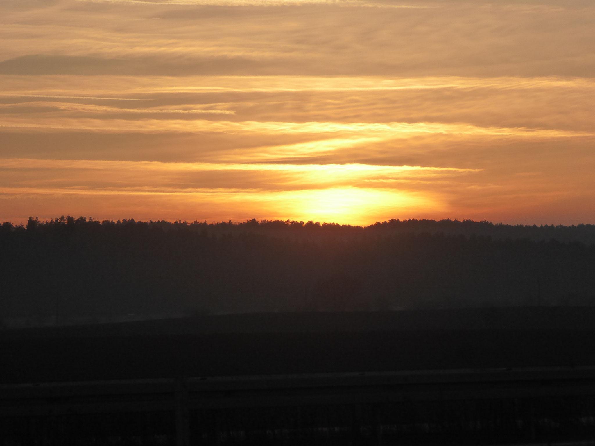 Sonnenuntergang von der KGA Quedlinburg 2